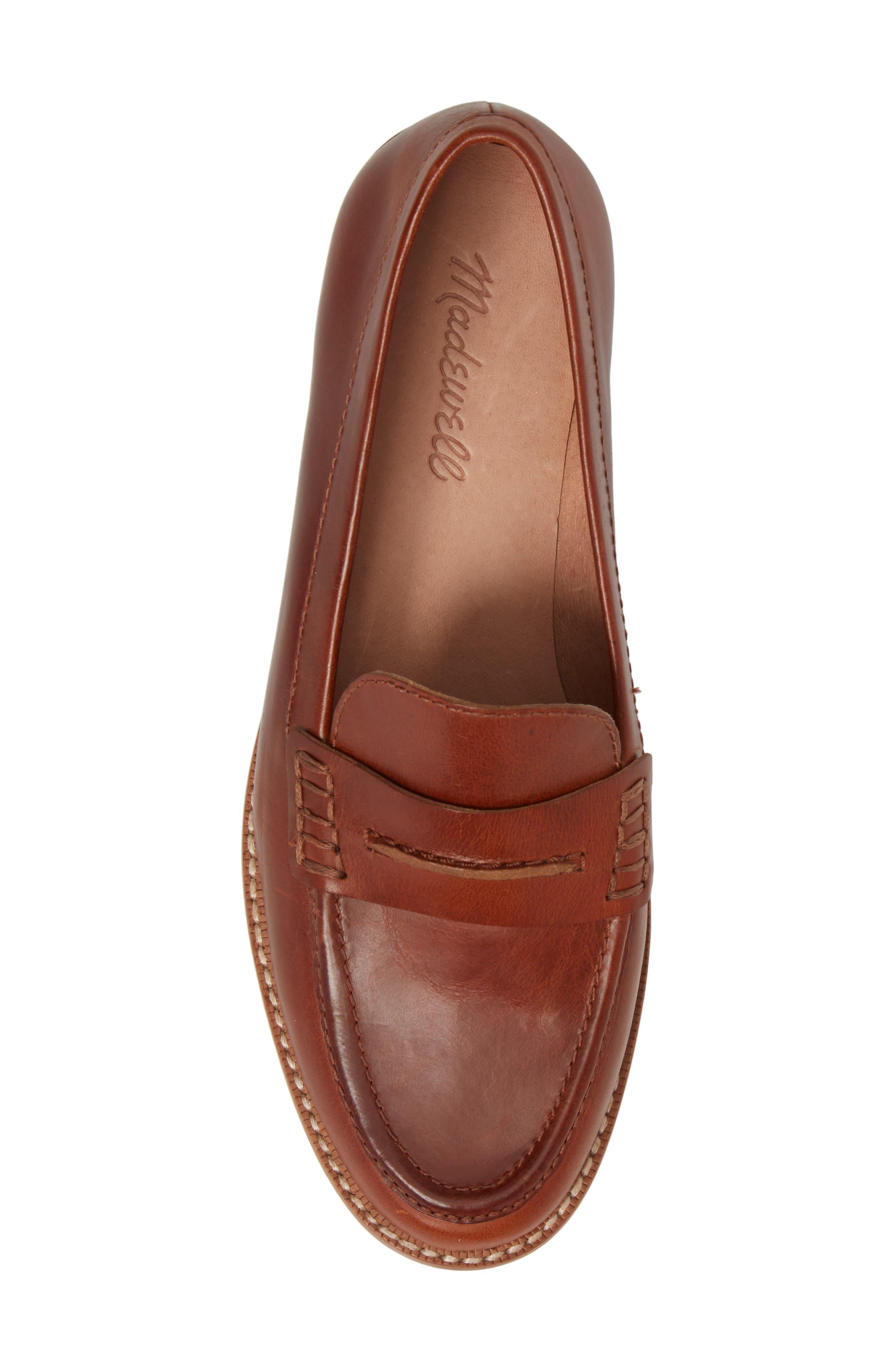 The Elinor Loafer,                             Alternate thumbnail 5, color,                             Dark Chestnut Leather