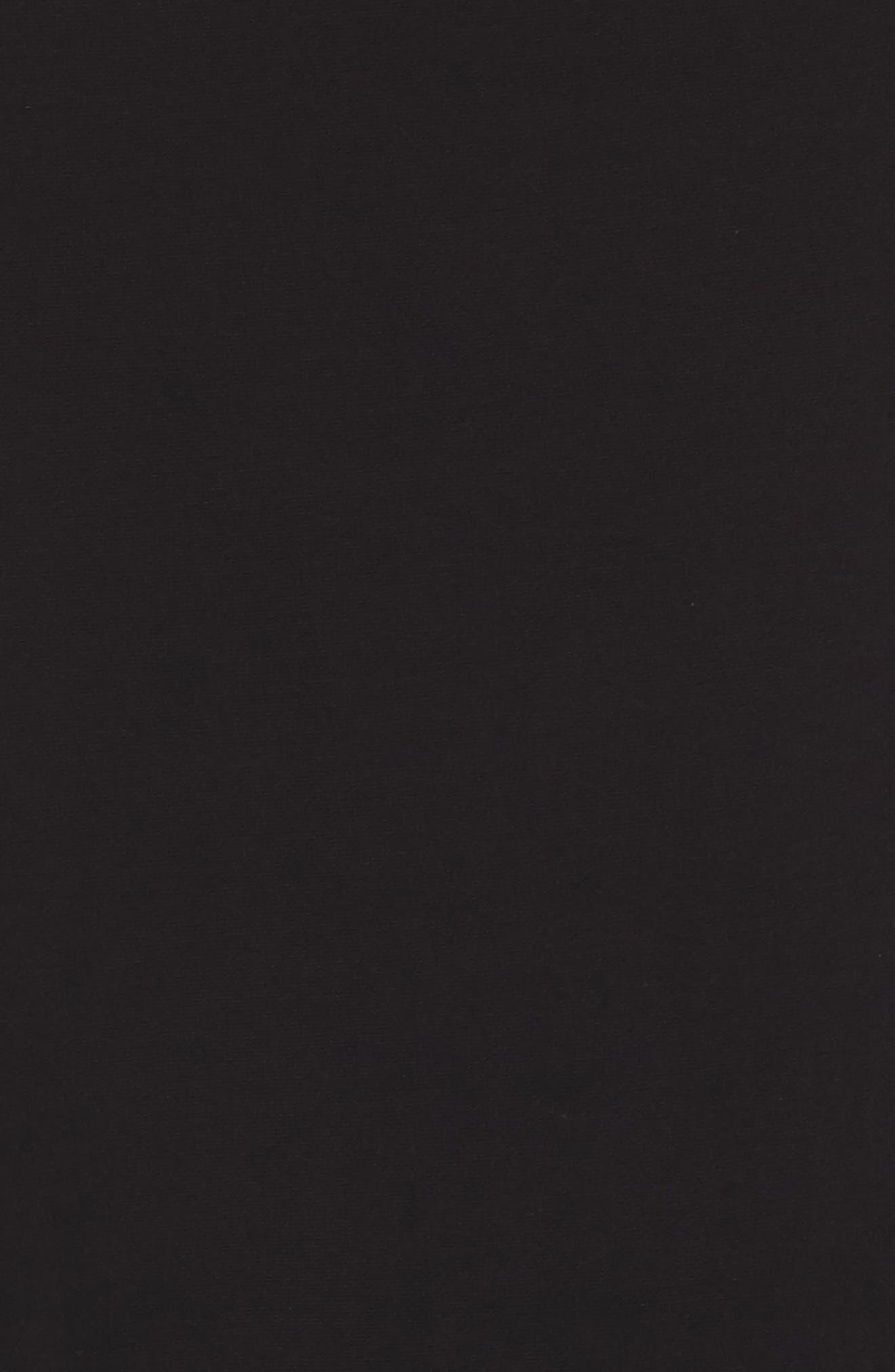 Cold Shoulder A-Line Gown,                             Alternate thumbnail 5, color,                             Black