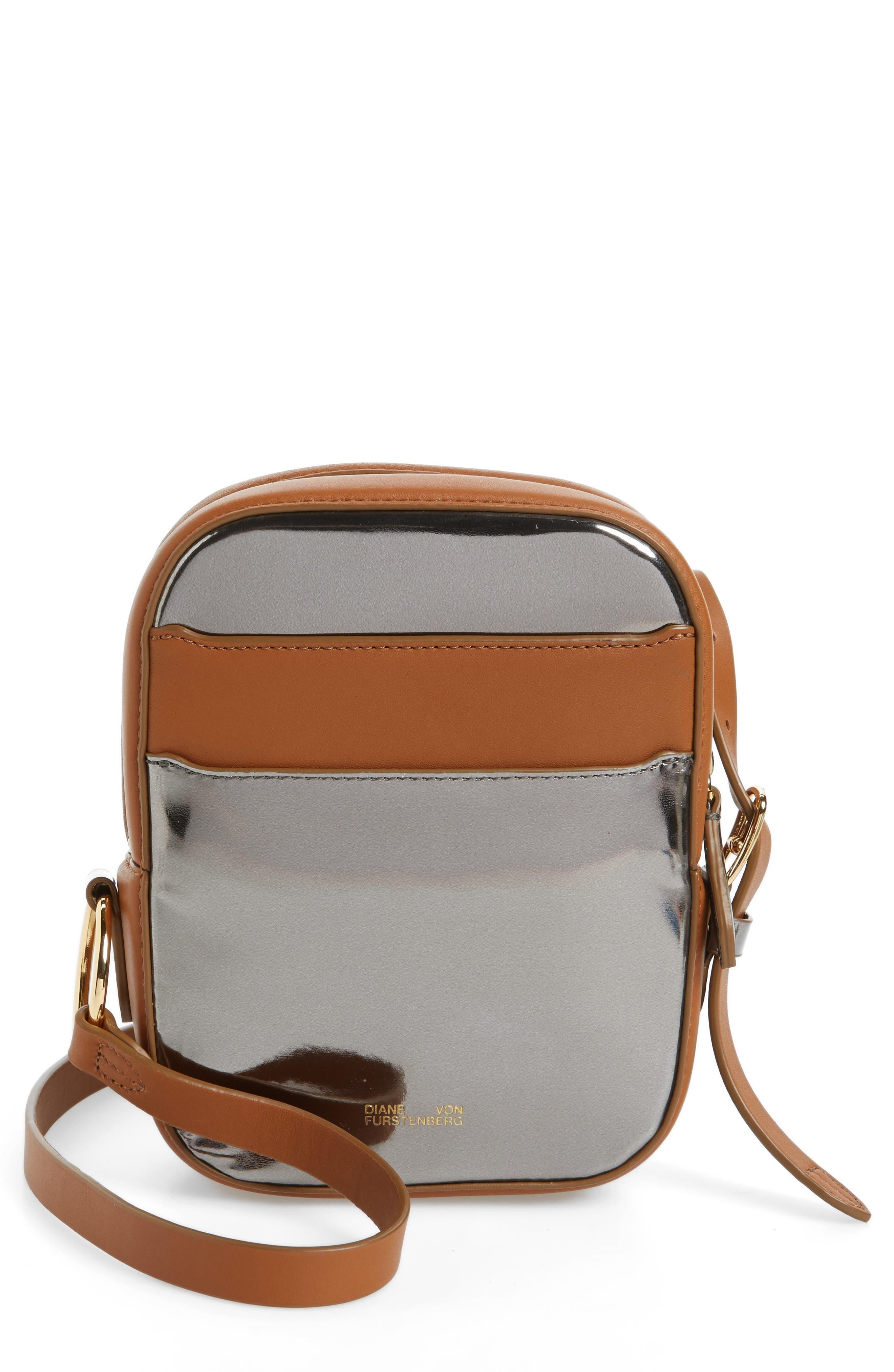 Alternate Image 1 Selected - Diane von Furstenberg Specchio Leather Camera Bag