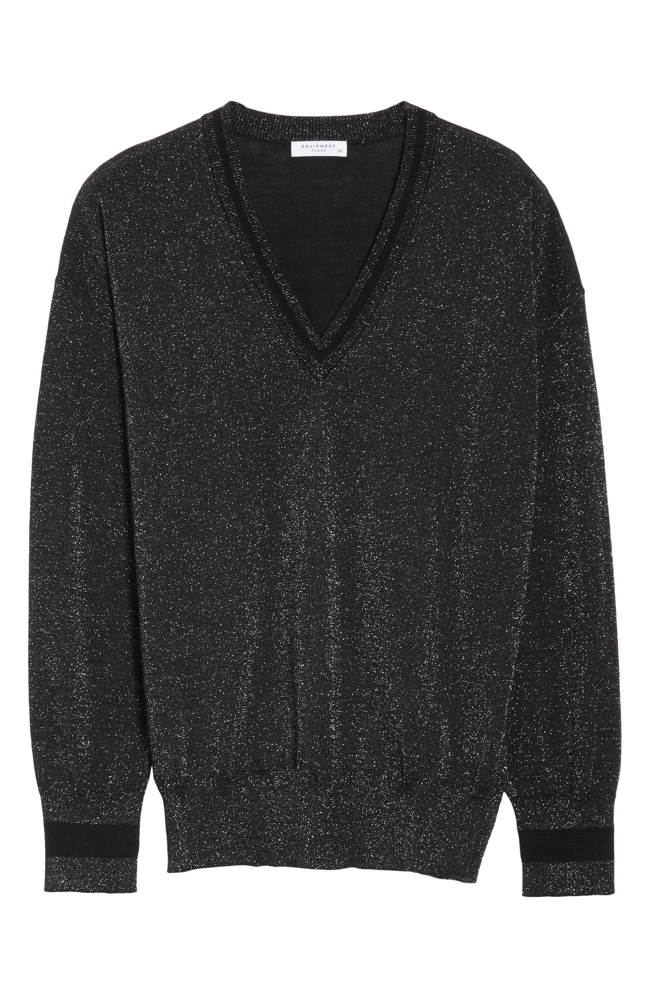 Alternate Image 6  - Equipment Lucinda V-Neck Sweater