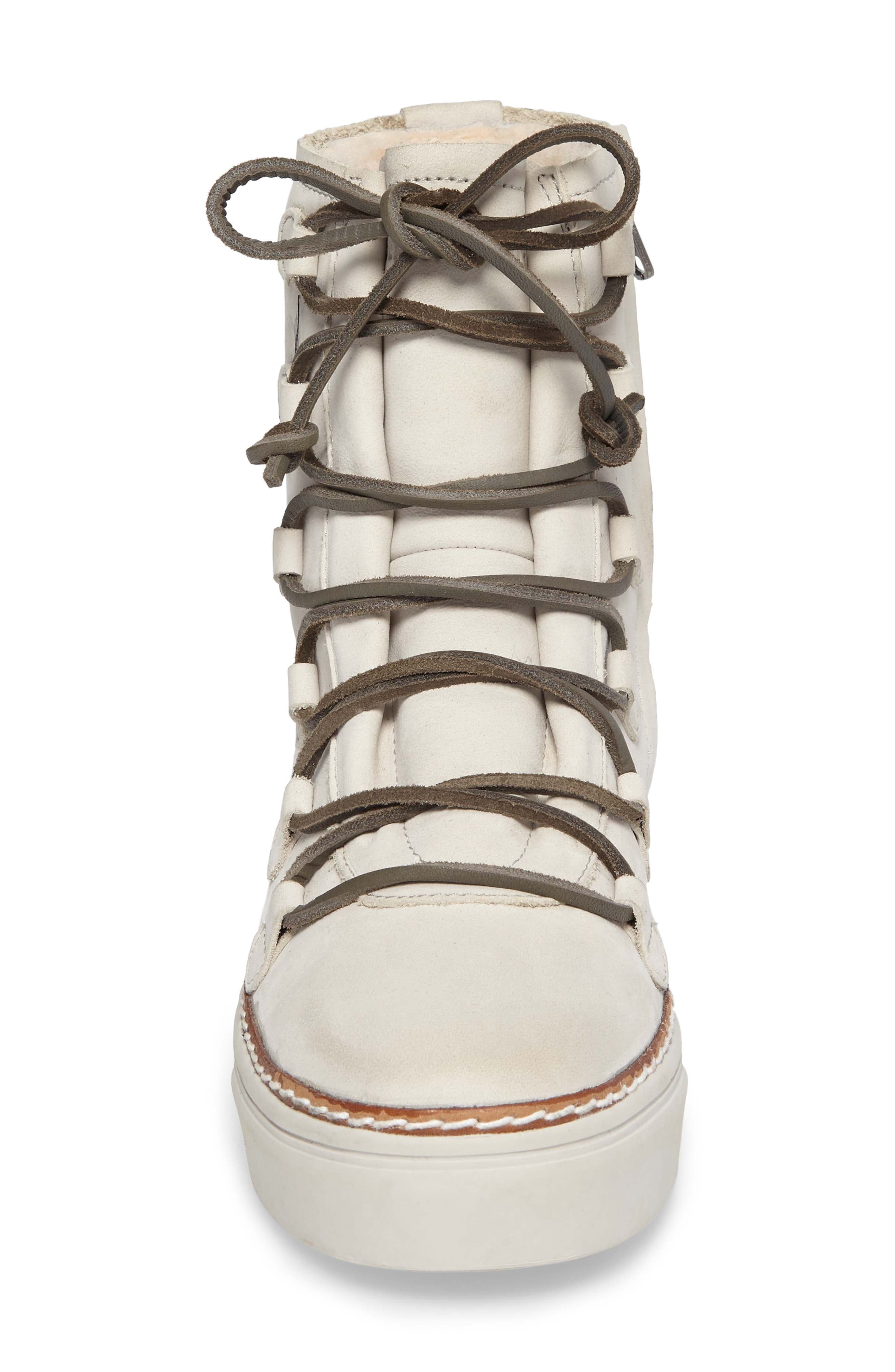 Alternate Image 5  - Blackstone OL26 Genuine Shearling Lined Lace-Up Bootie (Women)