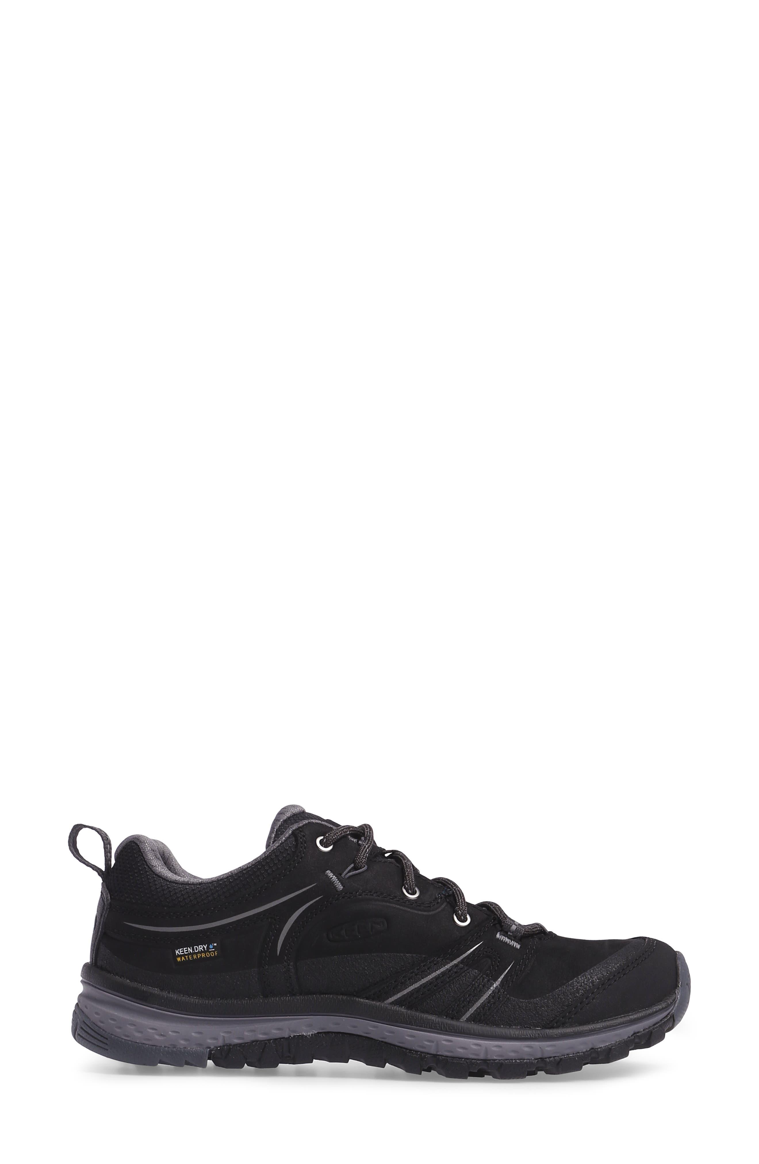 Terradora Waterproof Hiking Shoe,                             Alternate thumbnail 3, color,                             Black/ Steel Grey Nubuck