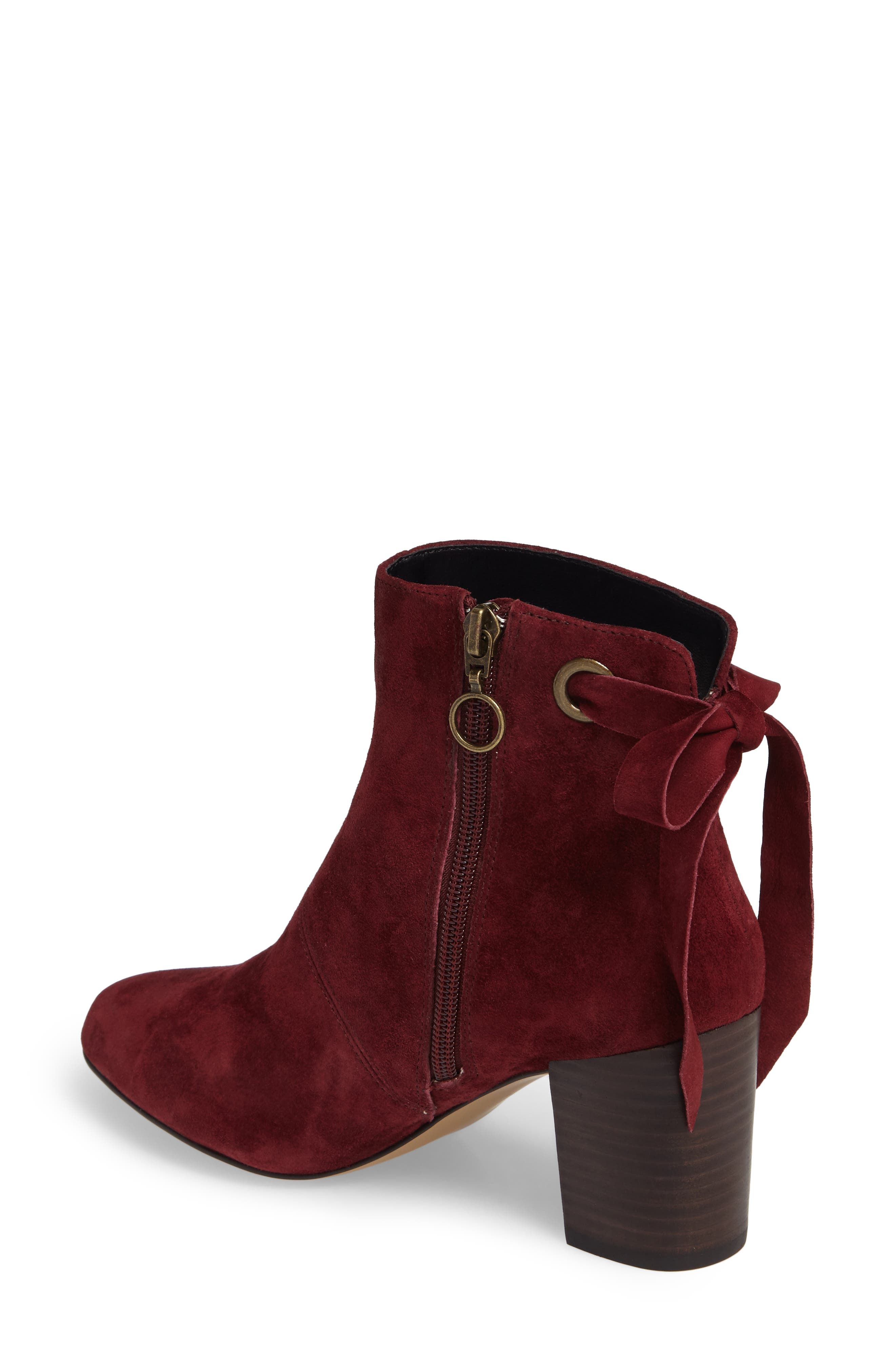 Roxbury Bootie,                             Alternate thumbnail 2, color,                             Rumba Red Suede