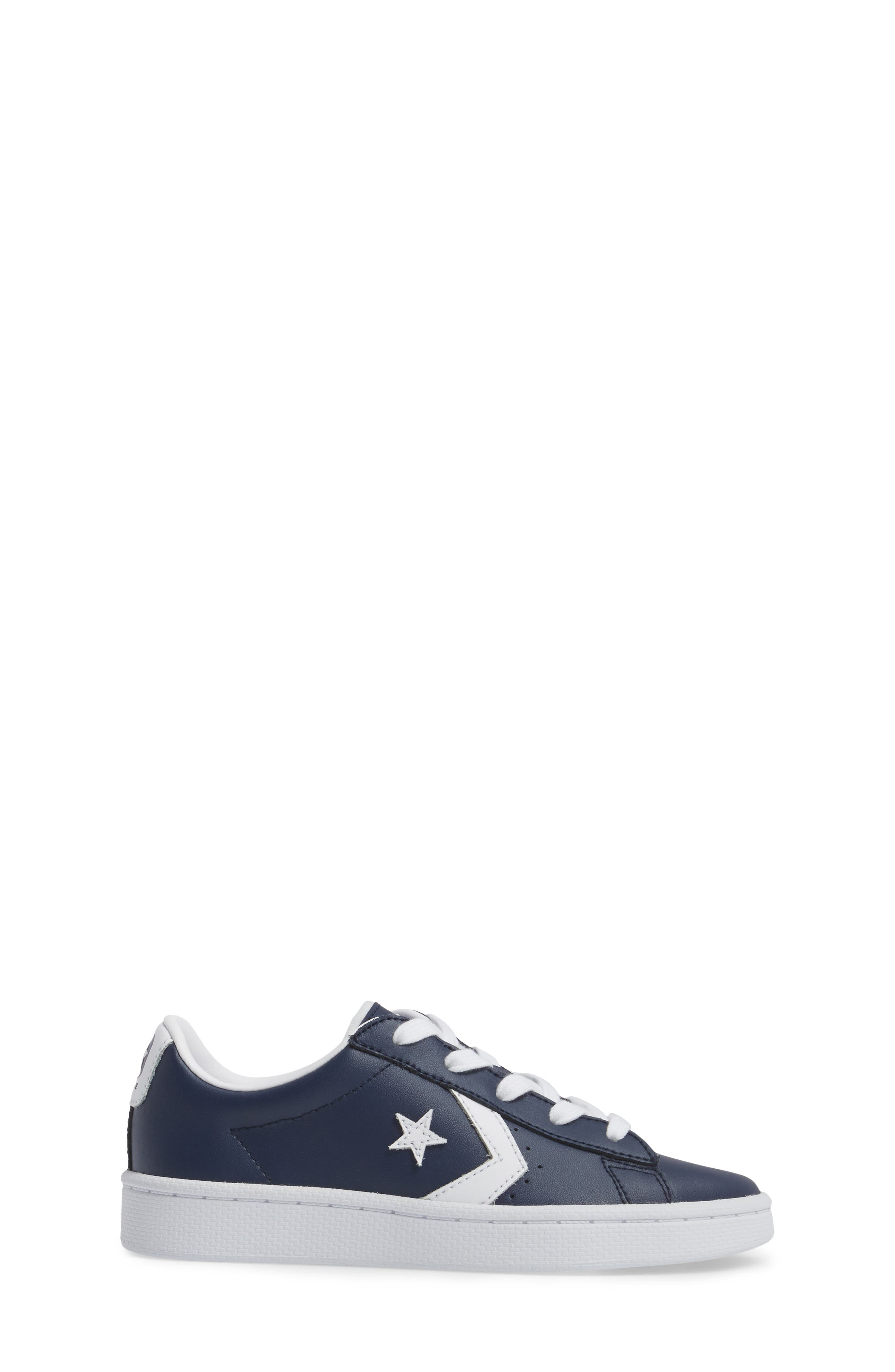 Alternate Image 4  - Converse All Star® Pro Leather Low Top Sneaker (Toddler & Little Kid)