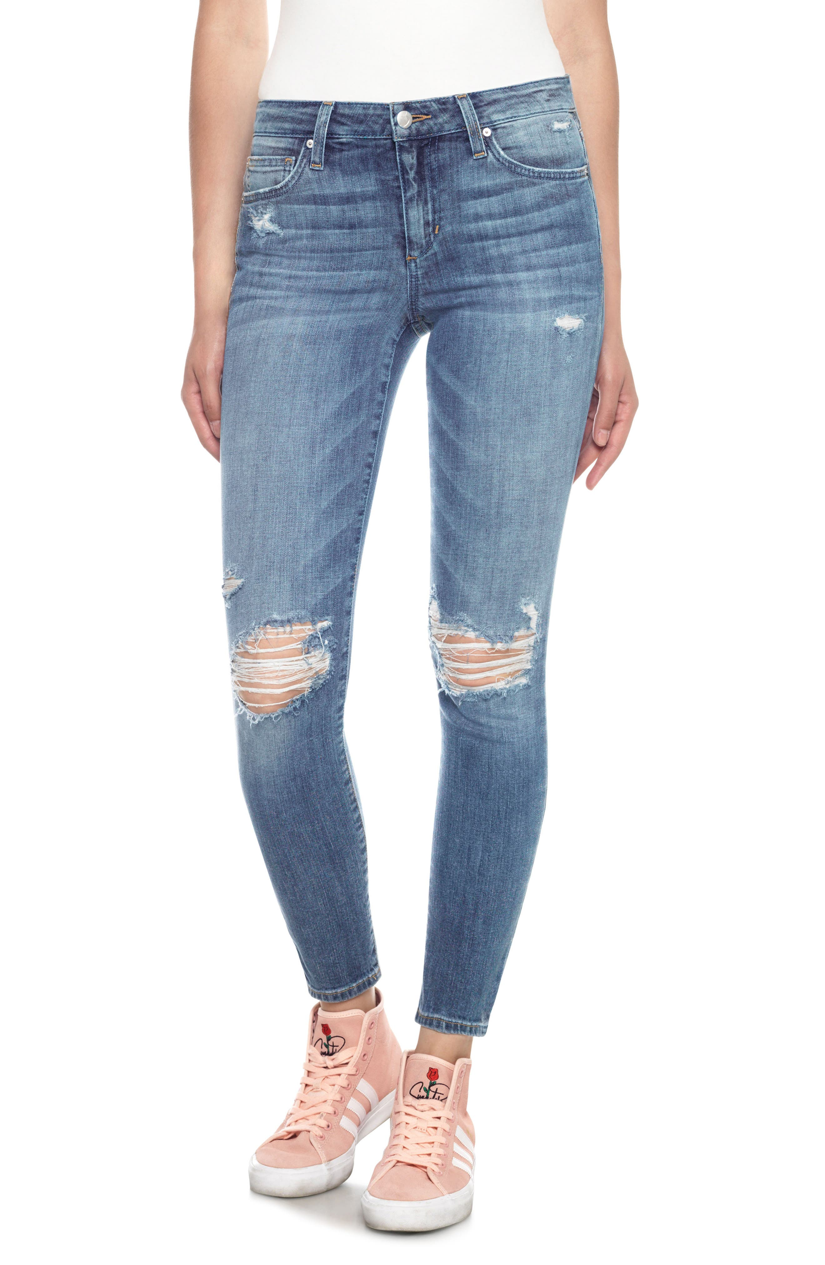 The Icon Skinny Ankle Jeans,                         Main,                         color, Midge