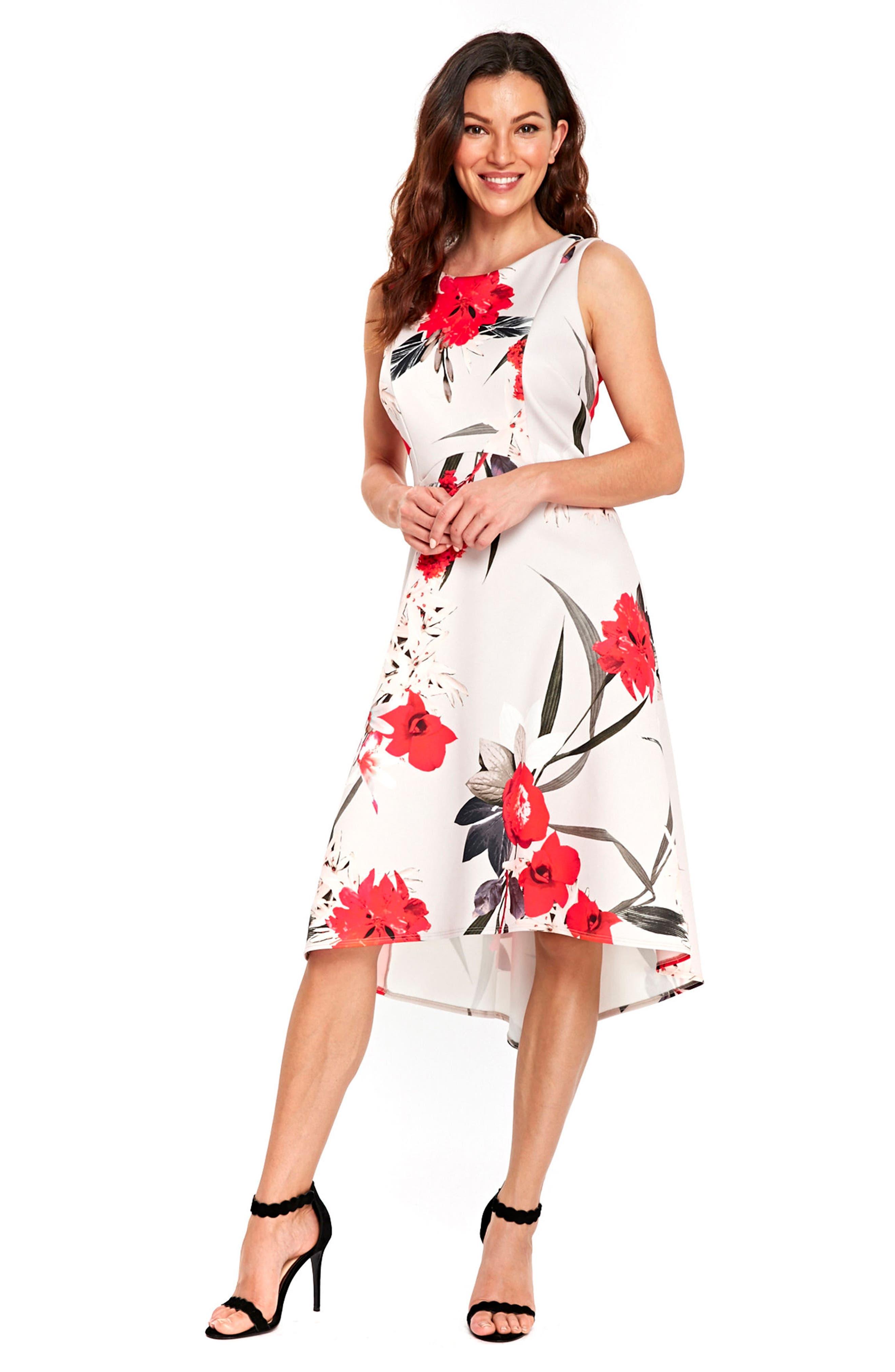 Alternate Image 2  - Wallis Sahara Bloom High/Low Dress