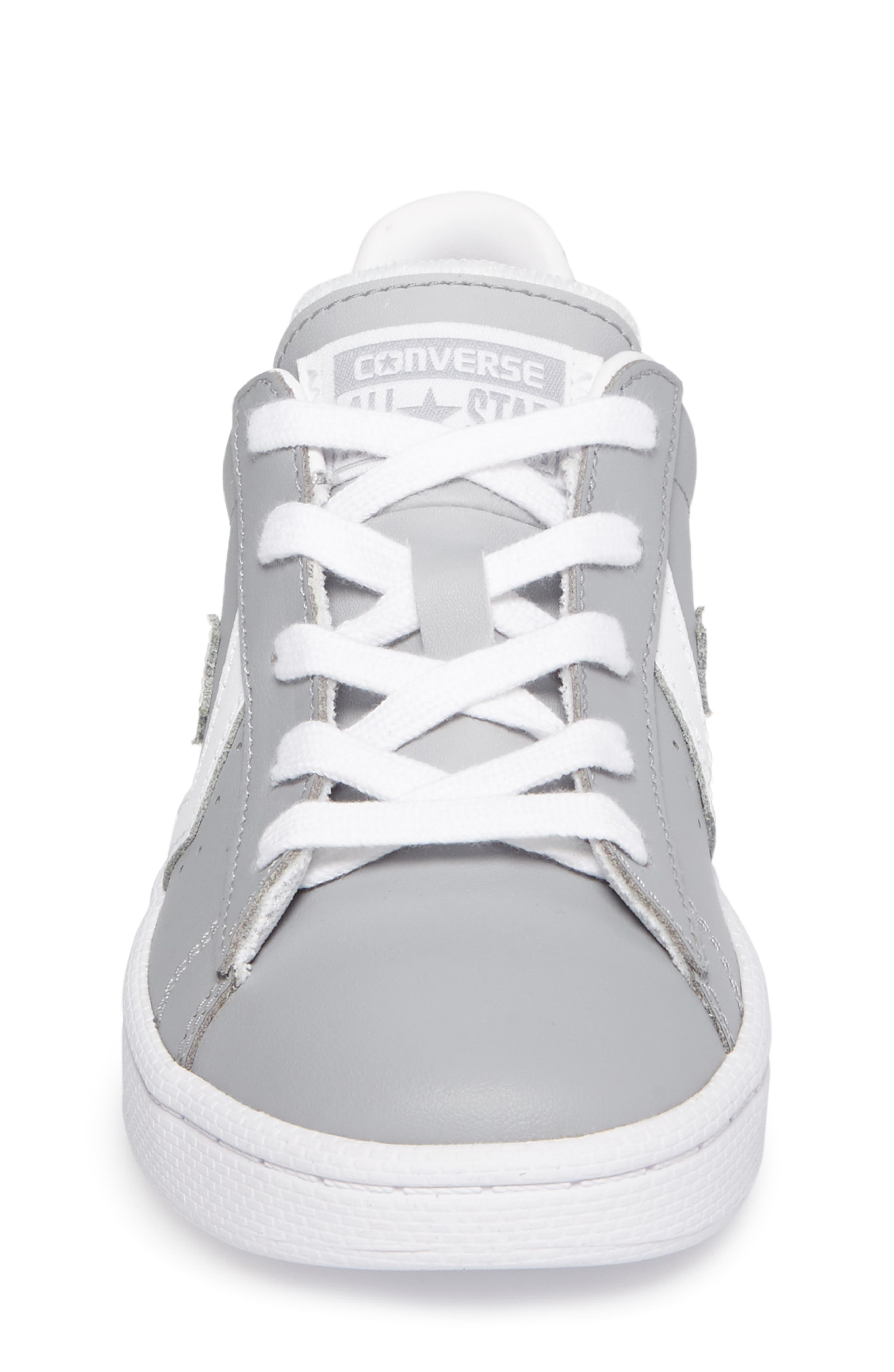 All Star<sup>®</sup> Pro Leather Low Top Sneaker,                             Alternate thumbnail 4, color,                             Wolf Grey