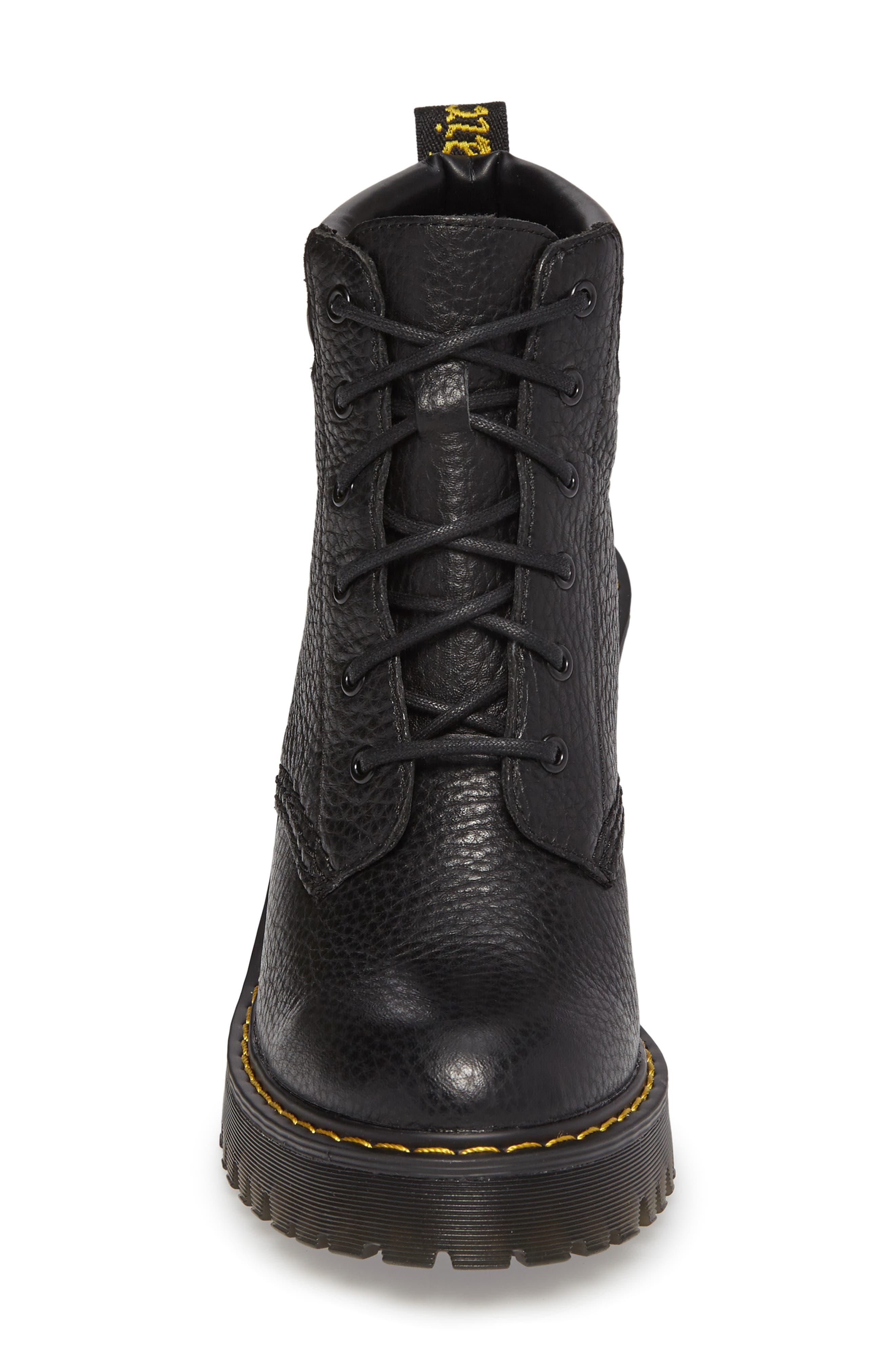 Persephone Platform Boot,                             Alternate thumbnail 4, color,                             Black Leather