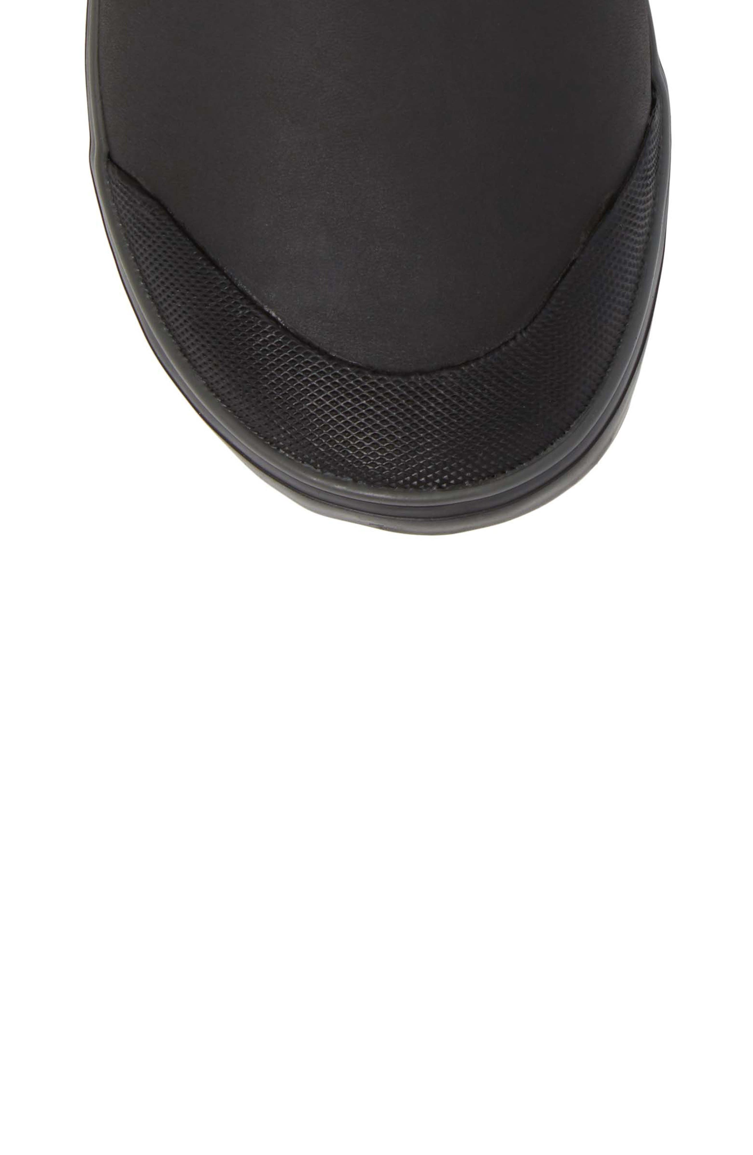 Elsa Chelsea Waterproof Faux Fur Lined Boot,                             Alternate thumbnail 5, color,                             Black Wool Leather