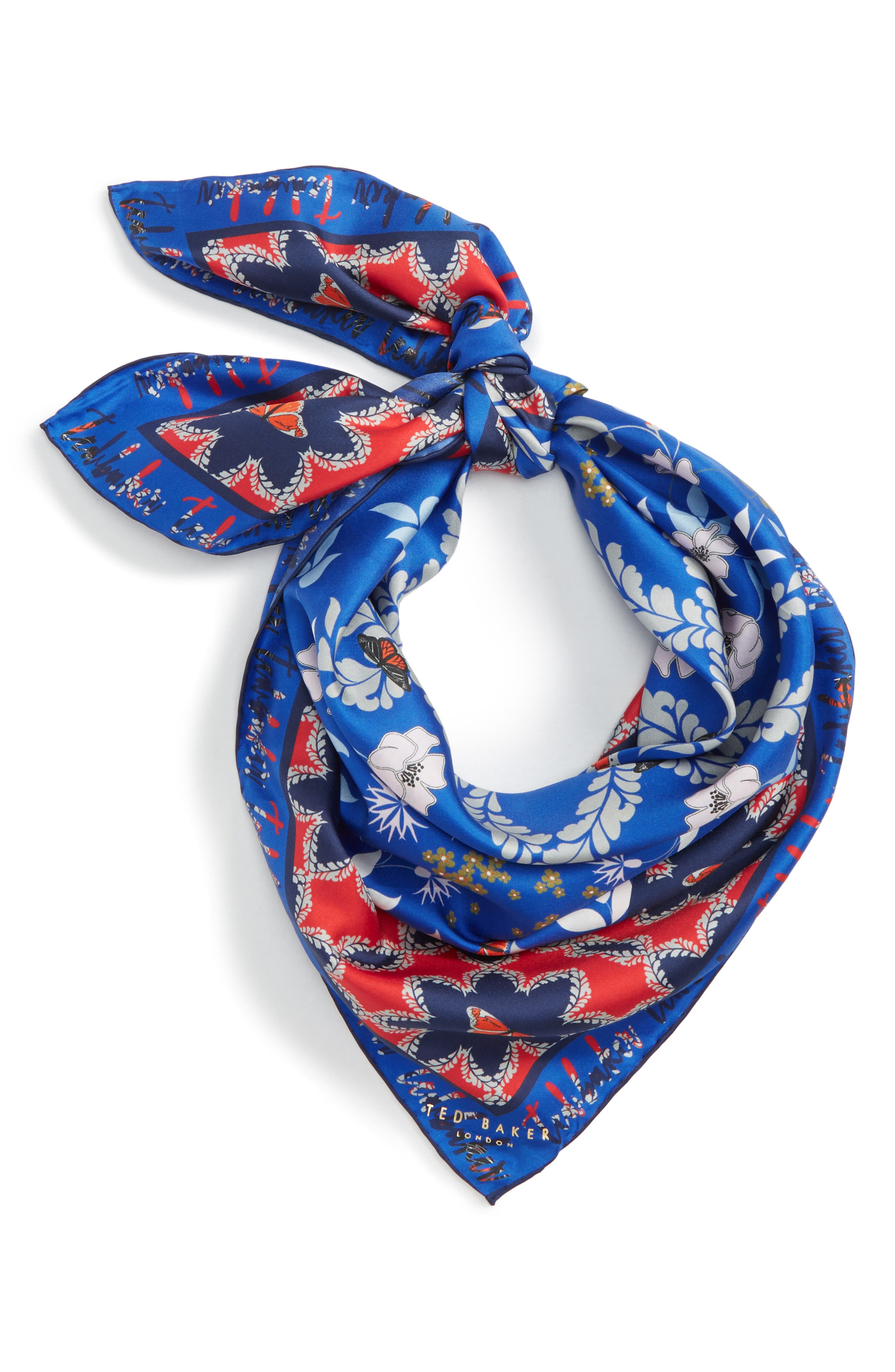 TED BAKER LONDON Kyoto Gardens Silk Square Scarf