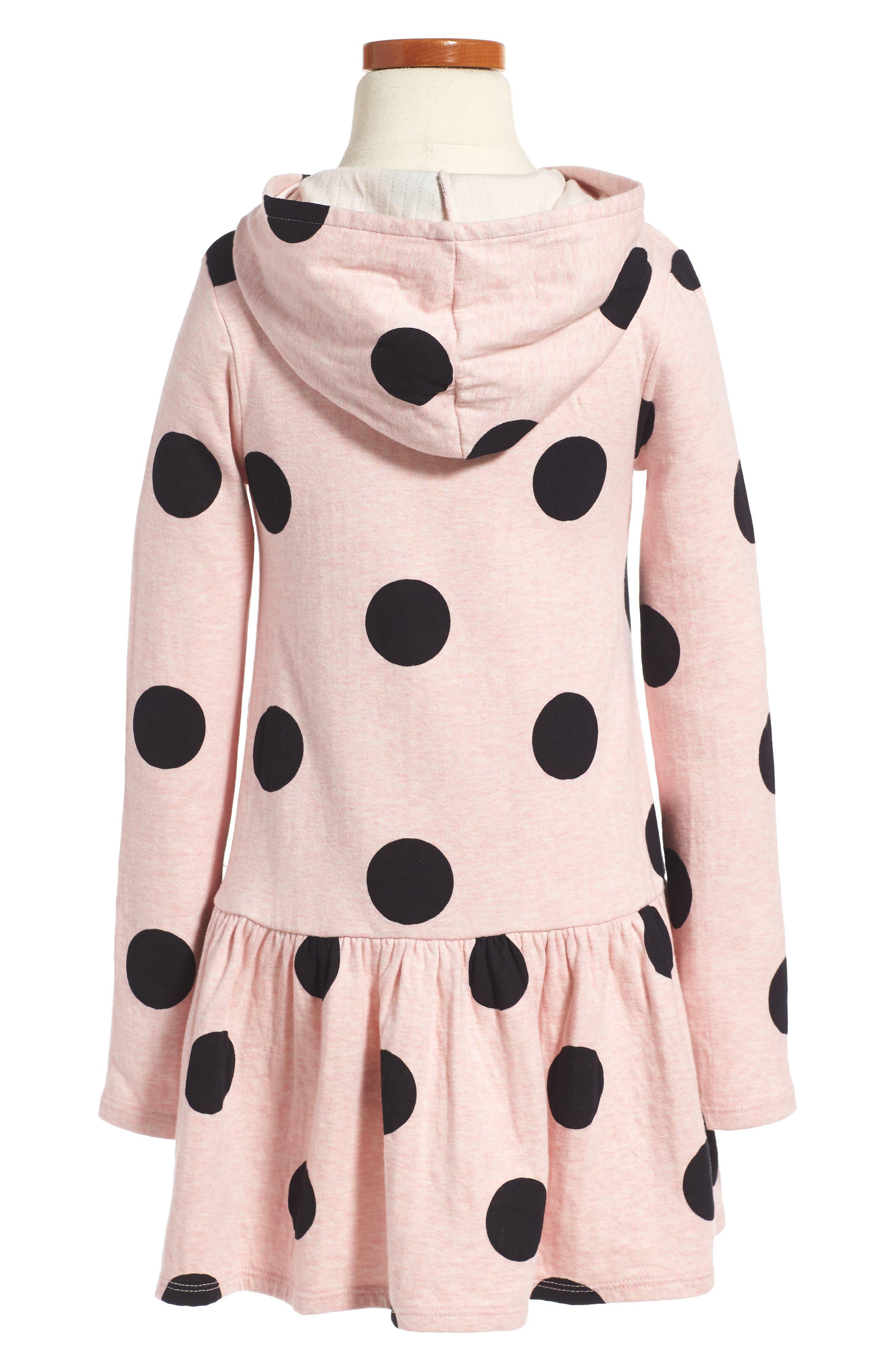 Alternate Image 2  - Tucker + Tate Print Hoodie Knit Dress (Toddler Girls, Little Girls & Big Girls)