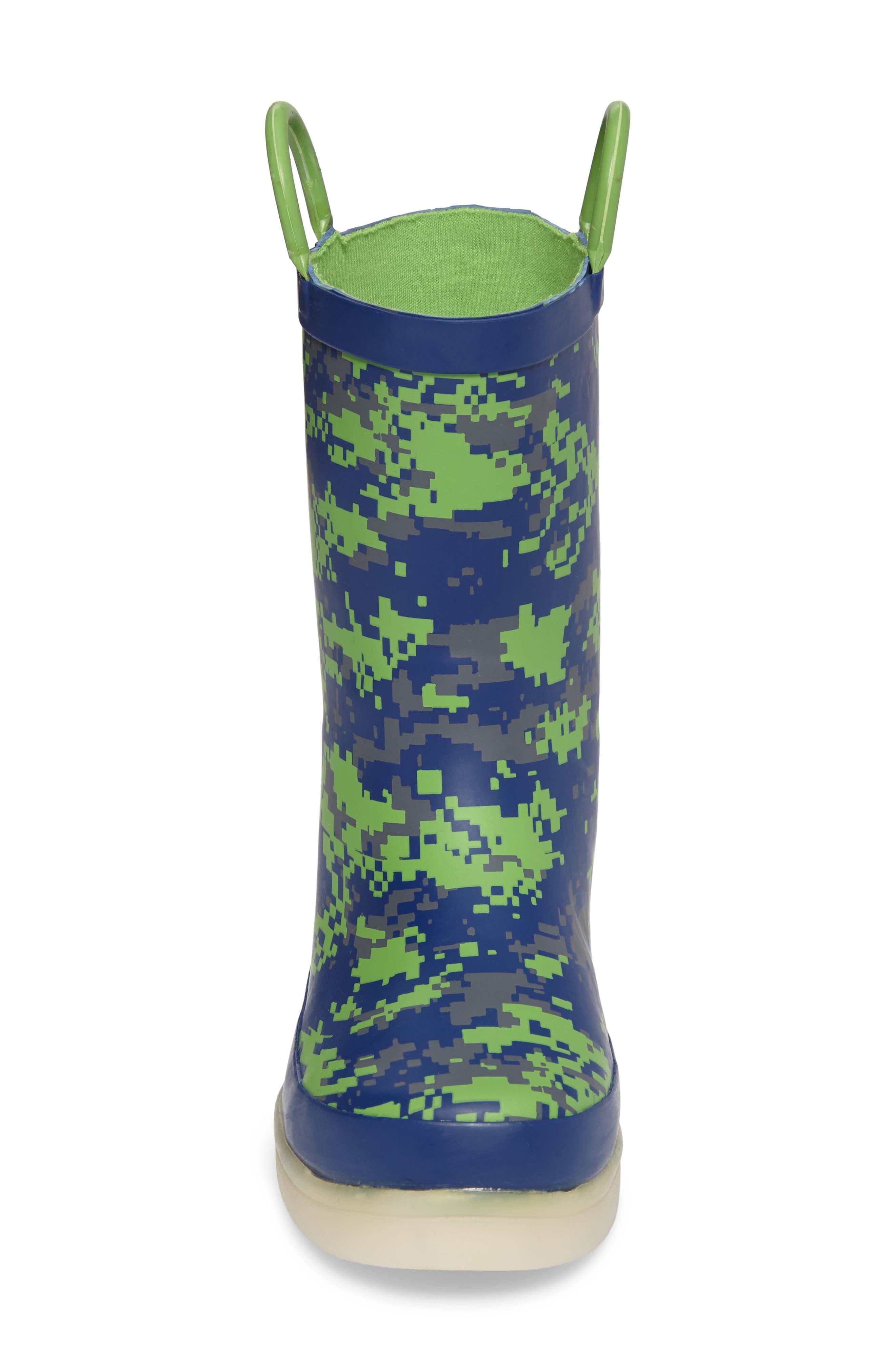 Alternate Image 4  - Western Chief Digital Camo LED Rain Boot (Toddler, Little Kid & Big Kid)