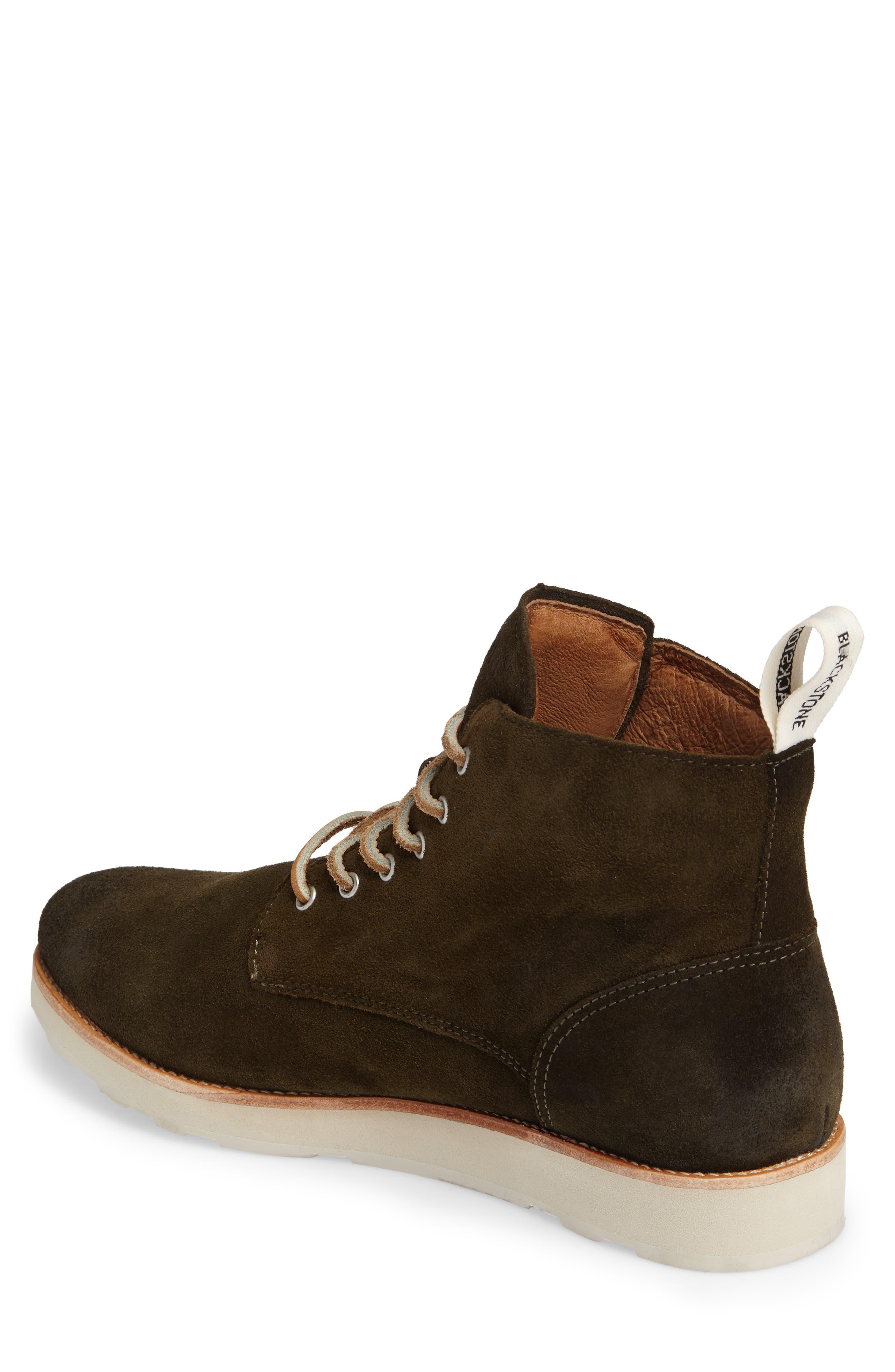 OM 53 Plain Toe Boot,                             Alternate thumbnail 2, color,                             Dark Green Leather