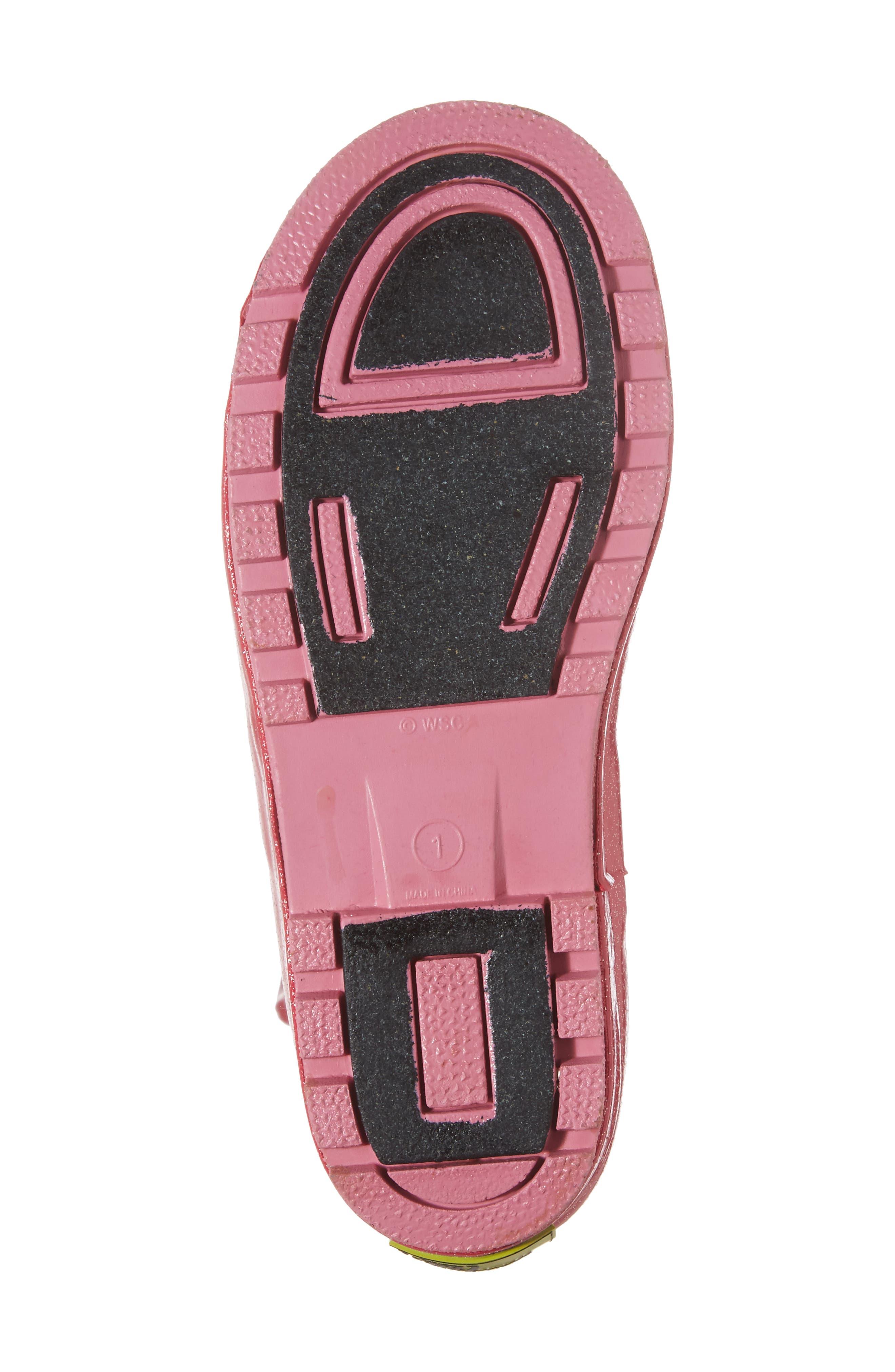 Fairy Tale Rain Boot,                             Alternate thumbnail 6, color,                             Pink