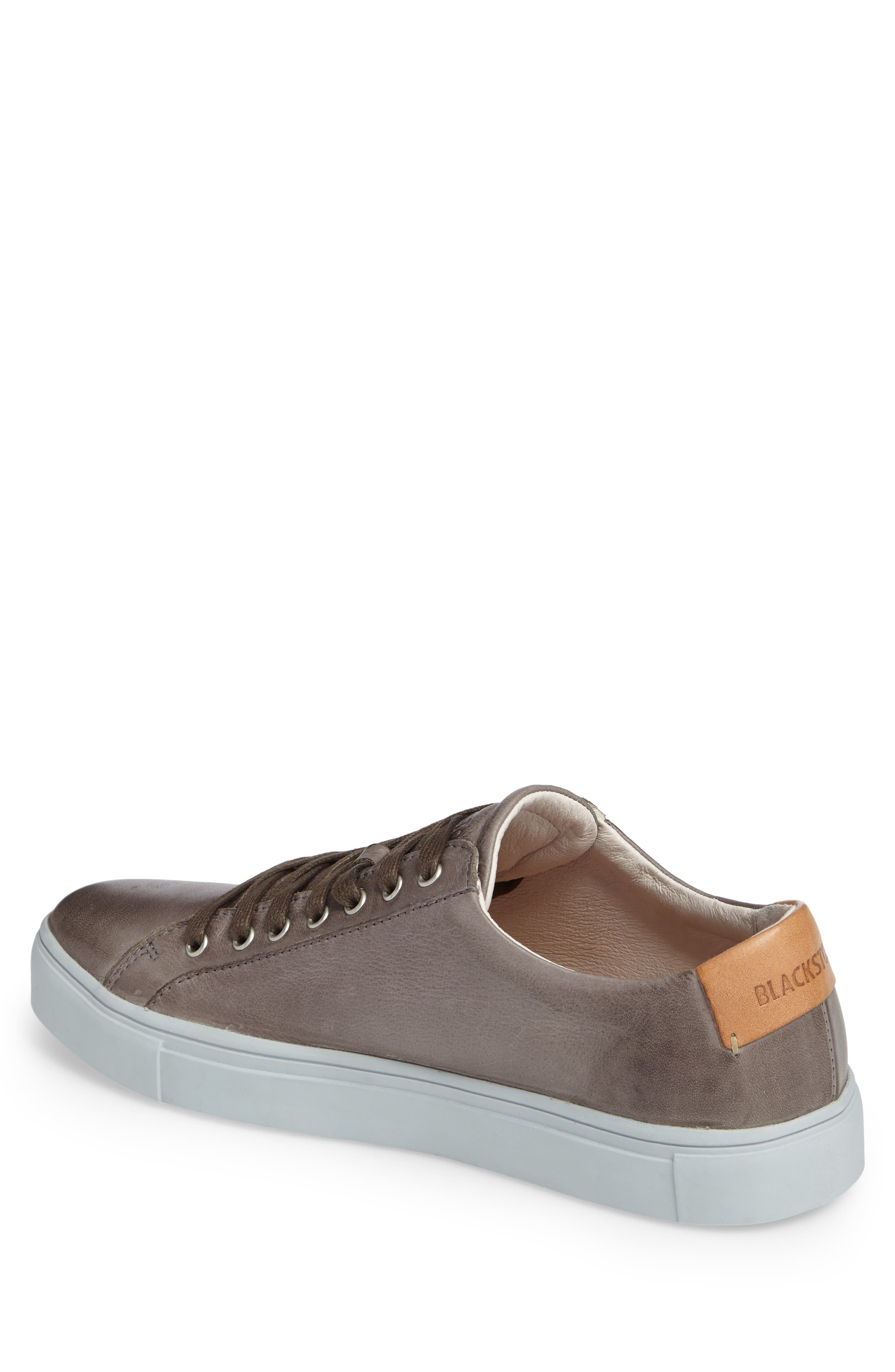 NM01 7 Eyelet Sneaker,                             Alternate thumbnail 2, color,                             Charcoal Leather