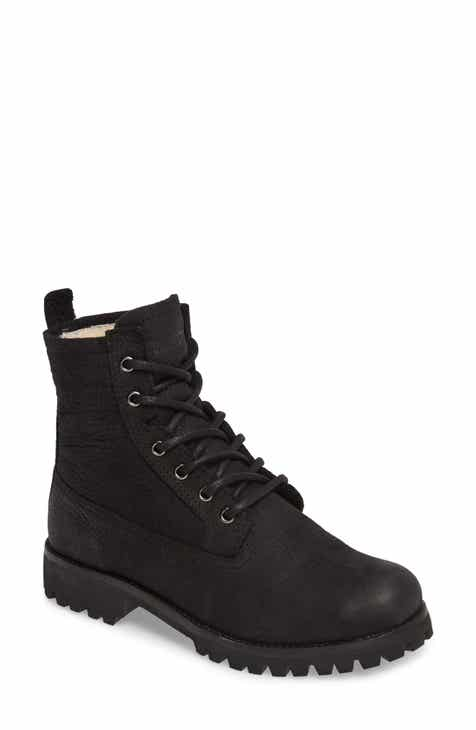 e145831d0cc4 Blackstone OL22 Lace-Up Boot with Genuine Shearling Lining (Women)