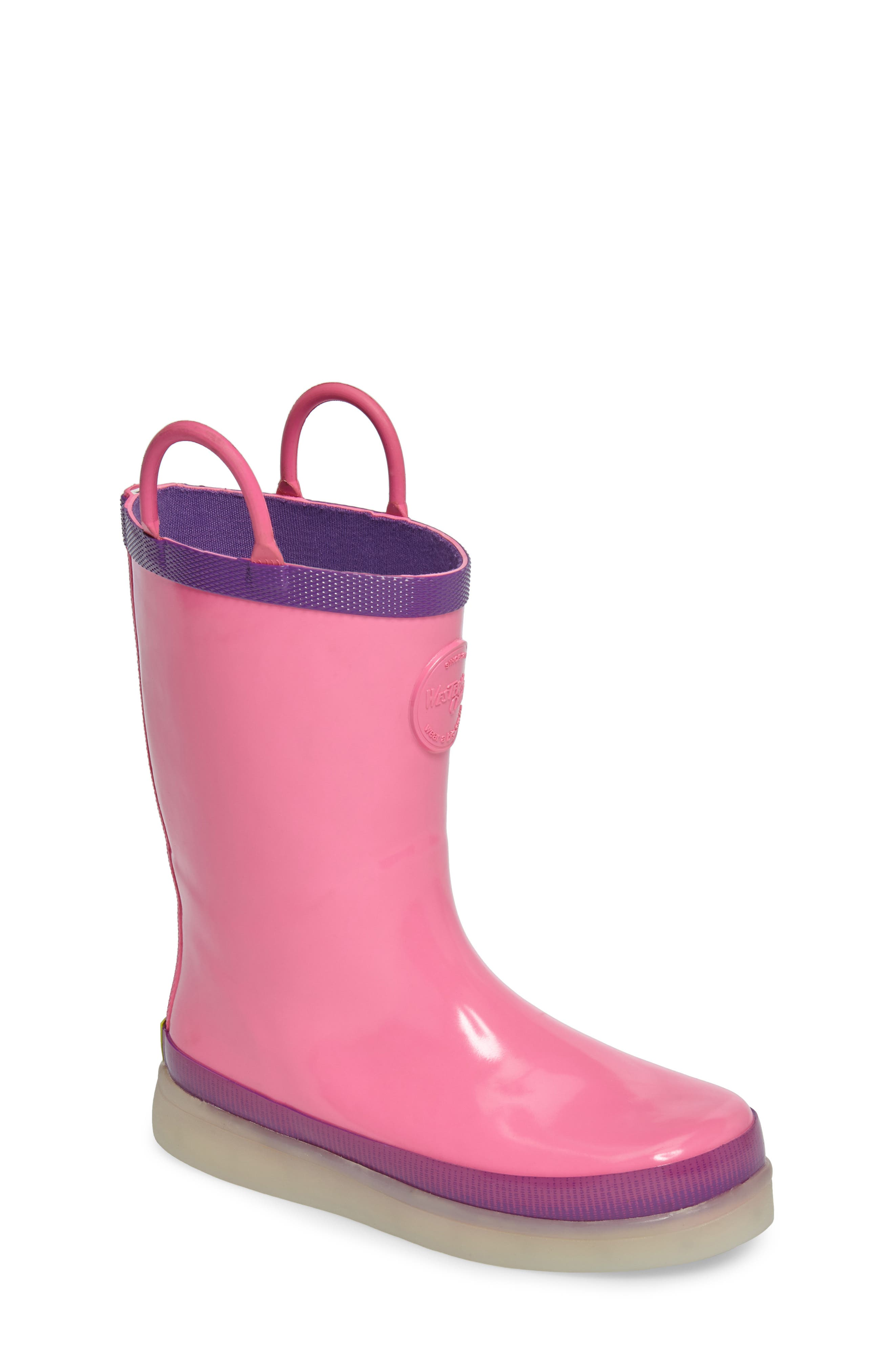 Alternate Image 1 Selected - Western Chief Tech Solid LED Rain Boot (Toddler, Little Kid & Big Kid)