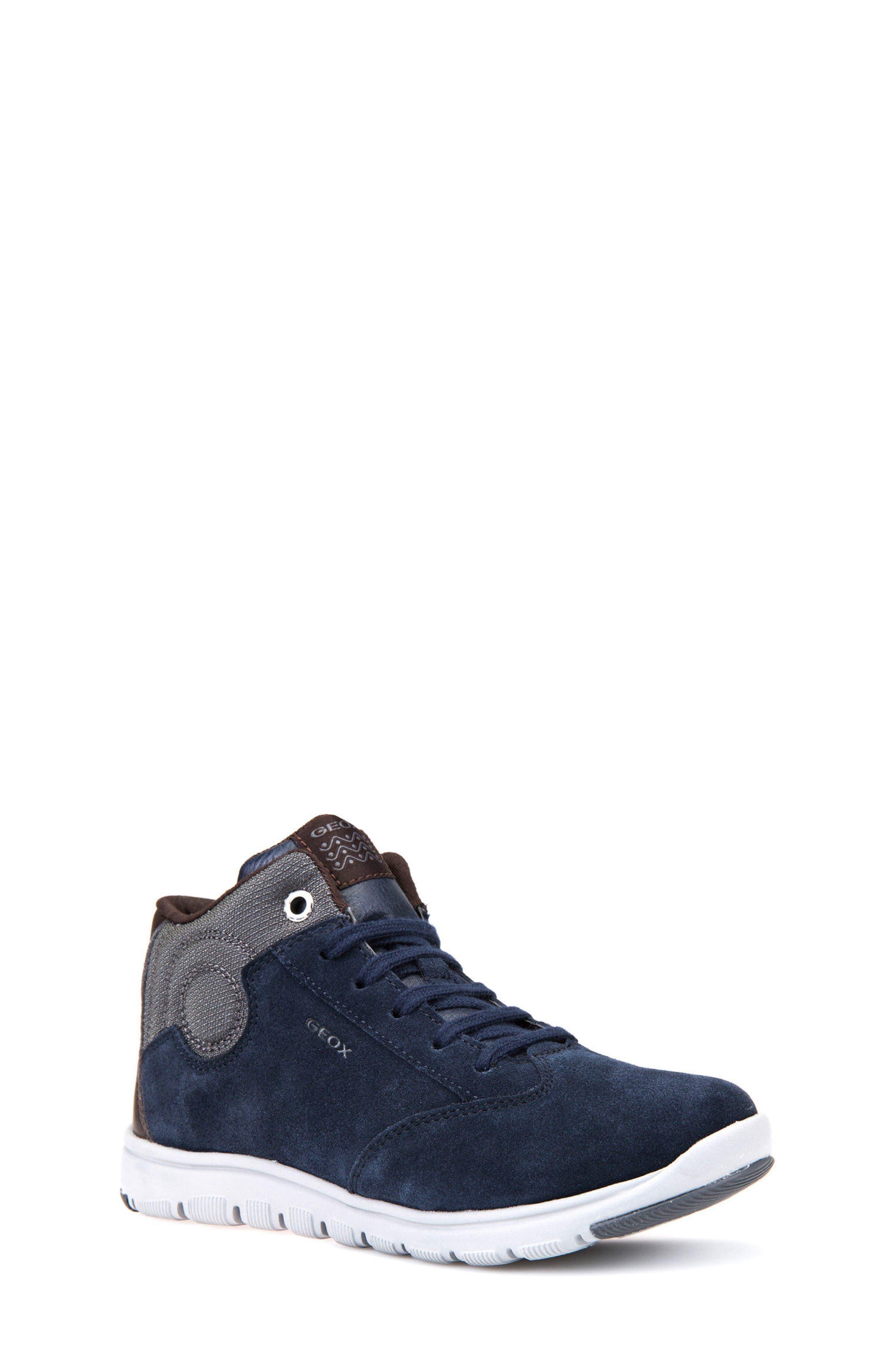 Geox Xunday Mid Top Sneaker (Toddler, Little Kid & Big Kid)