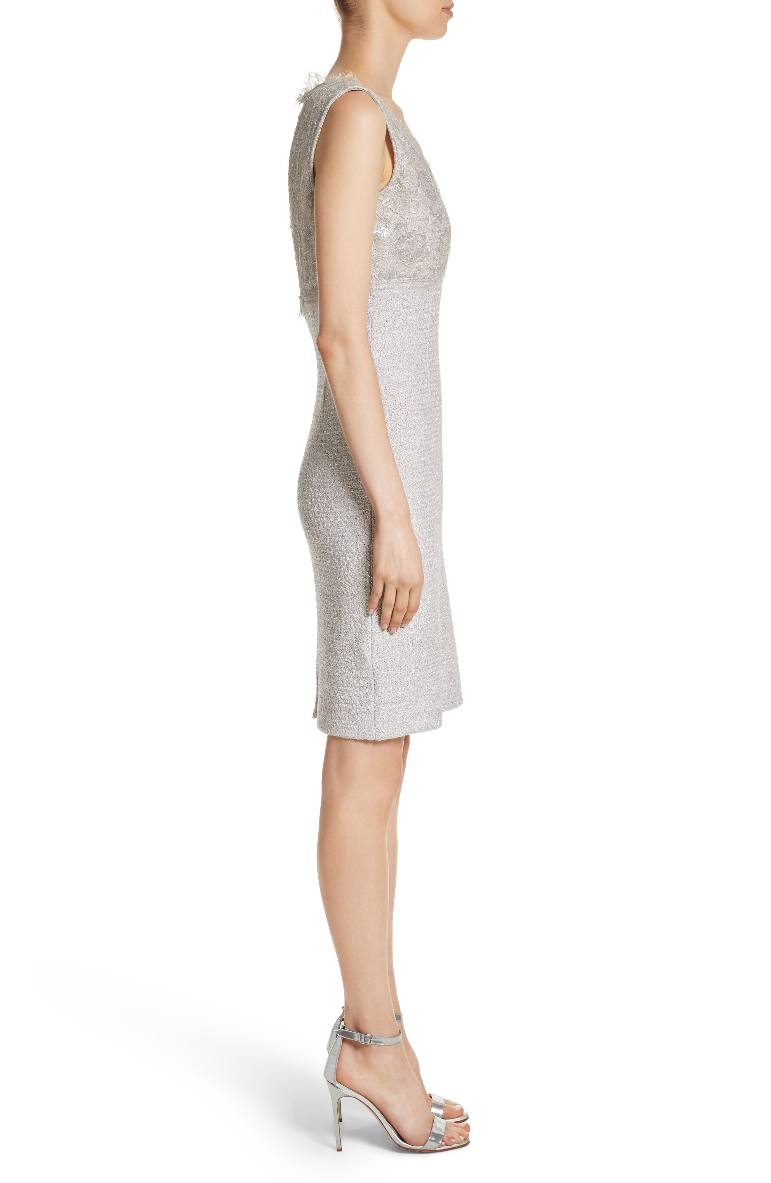 Alternate Image 4  - St. John Collection Metallic Eyelash Knit Dress