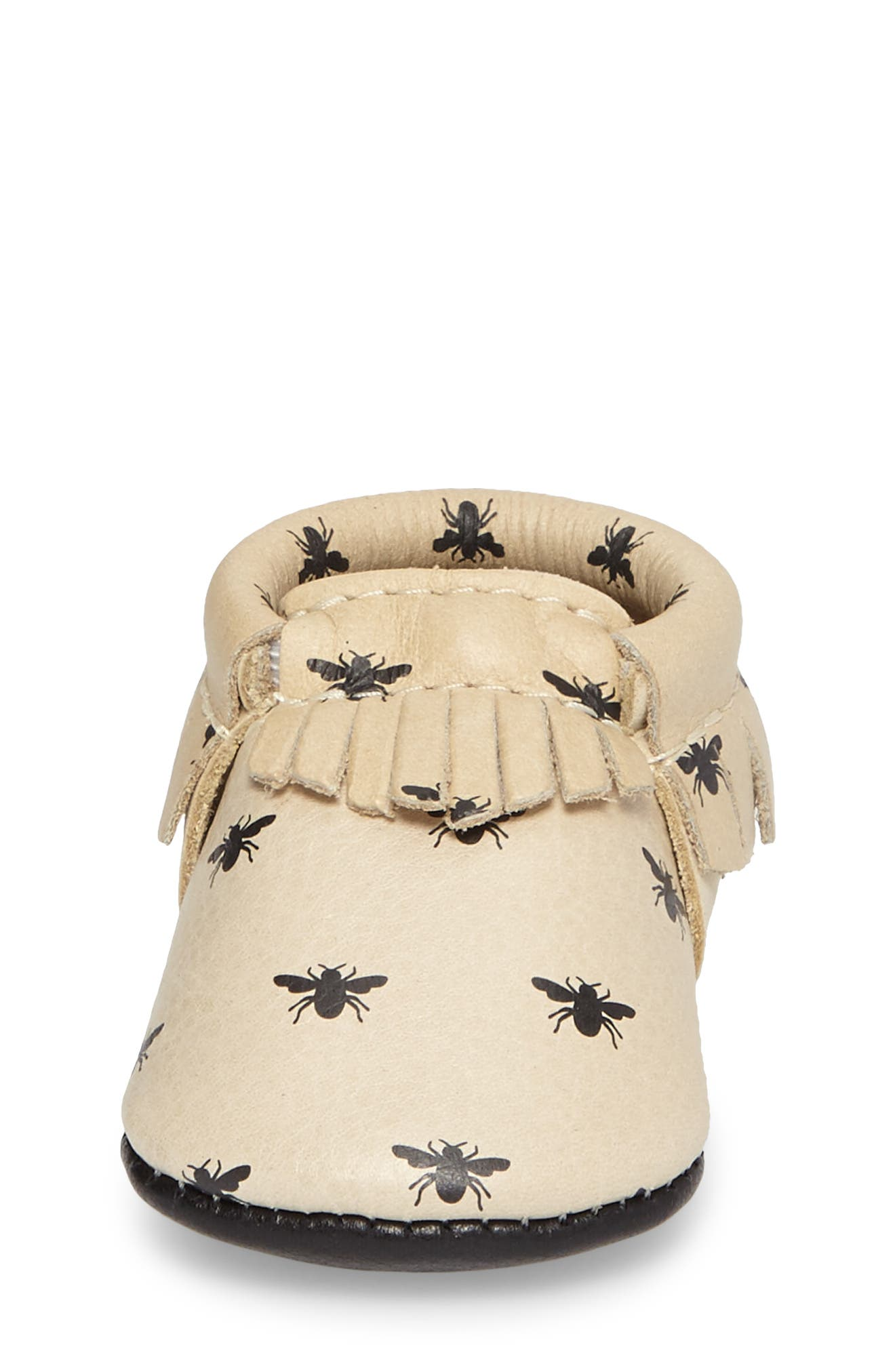 Alternate Image 4  - Freshly Picked Honeybee Print Moccasin (Baby)