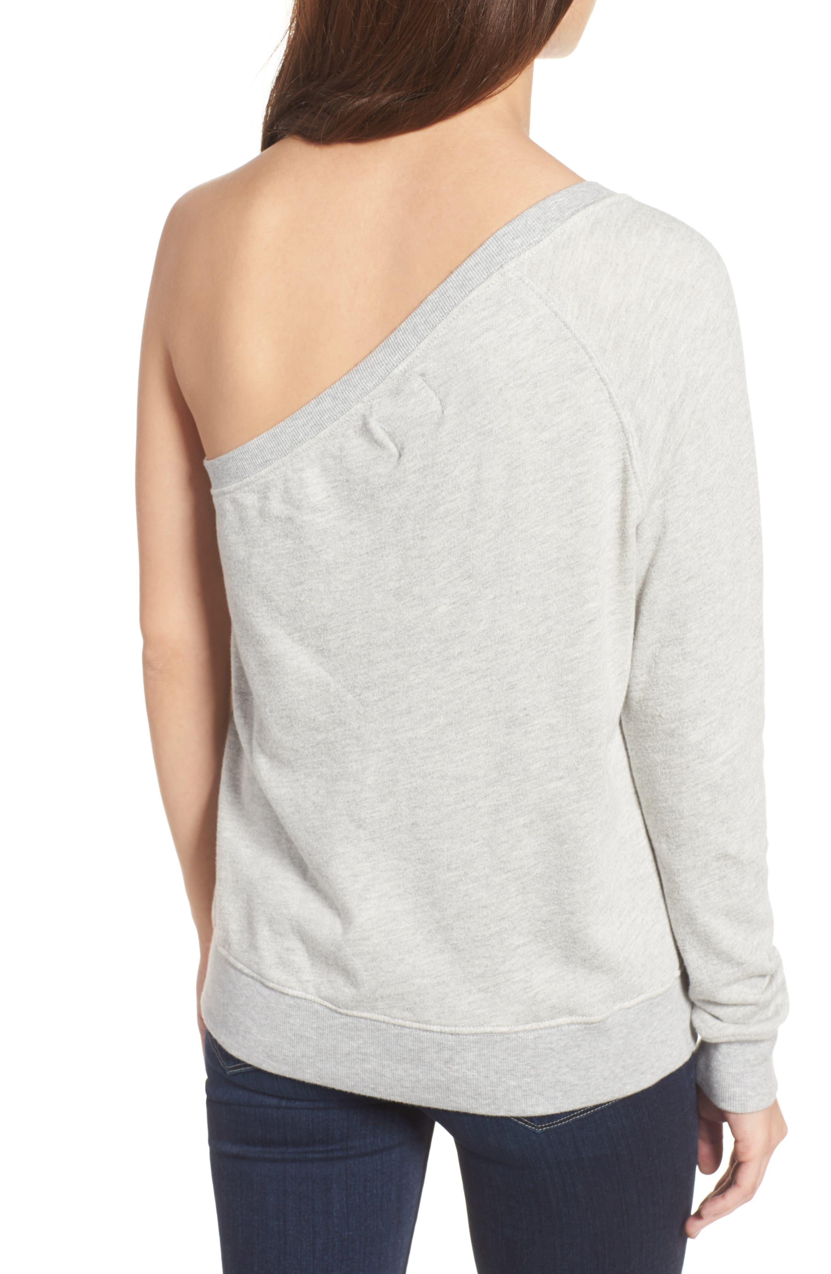 Alternate Image 2  - Pam & Gela One-Shoulder Sweatshirt