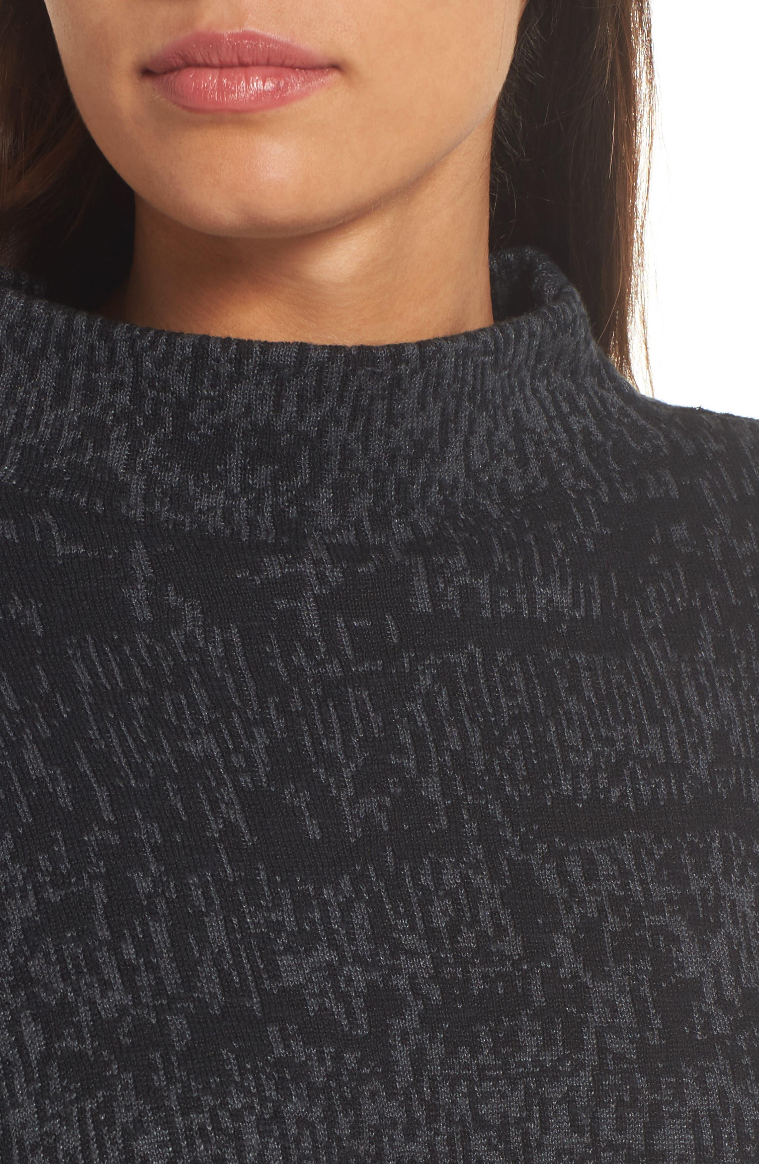 Alternate Image 4  - Eileen Fisher Funnel Neck Organic Linen Blend Sweater