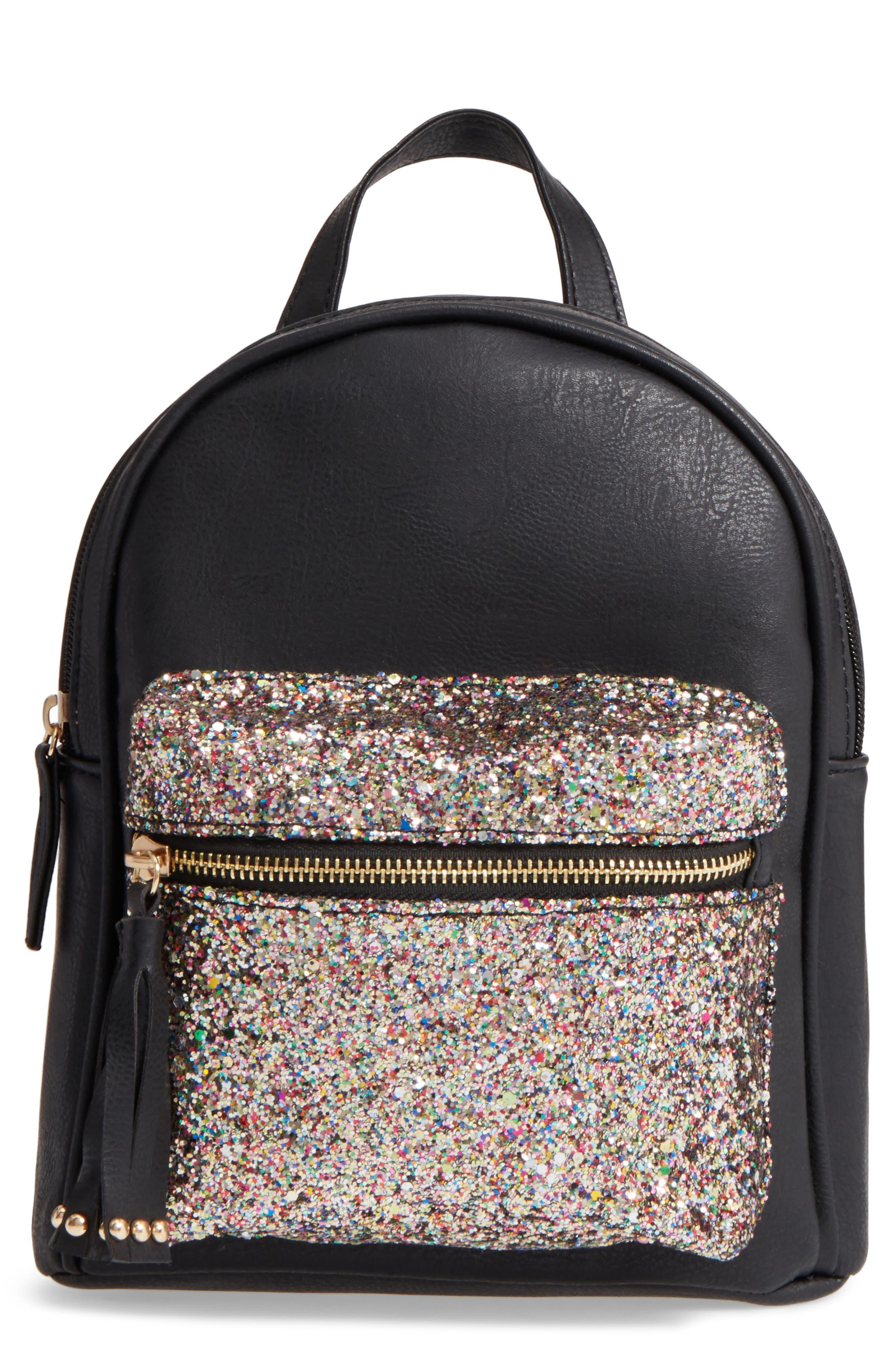 OMG Glitter Pocket Mini Backpack