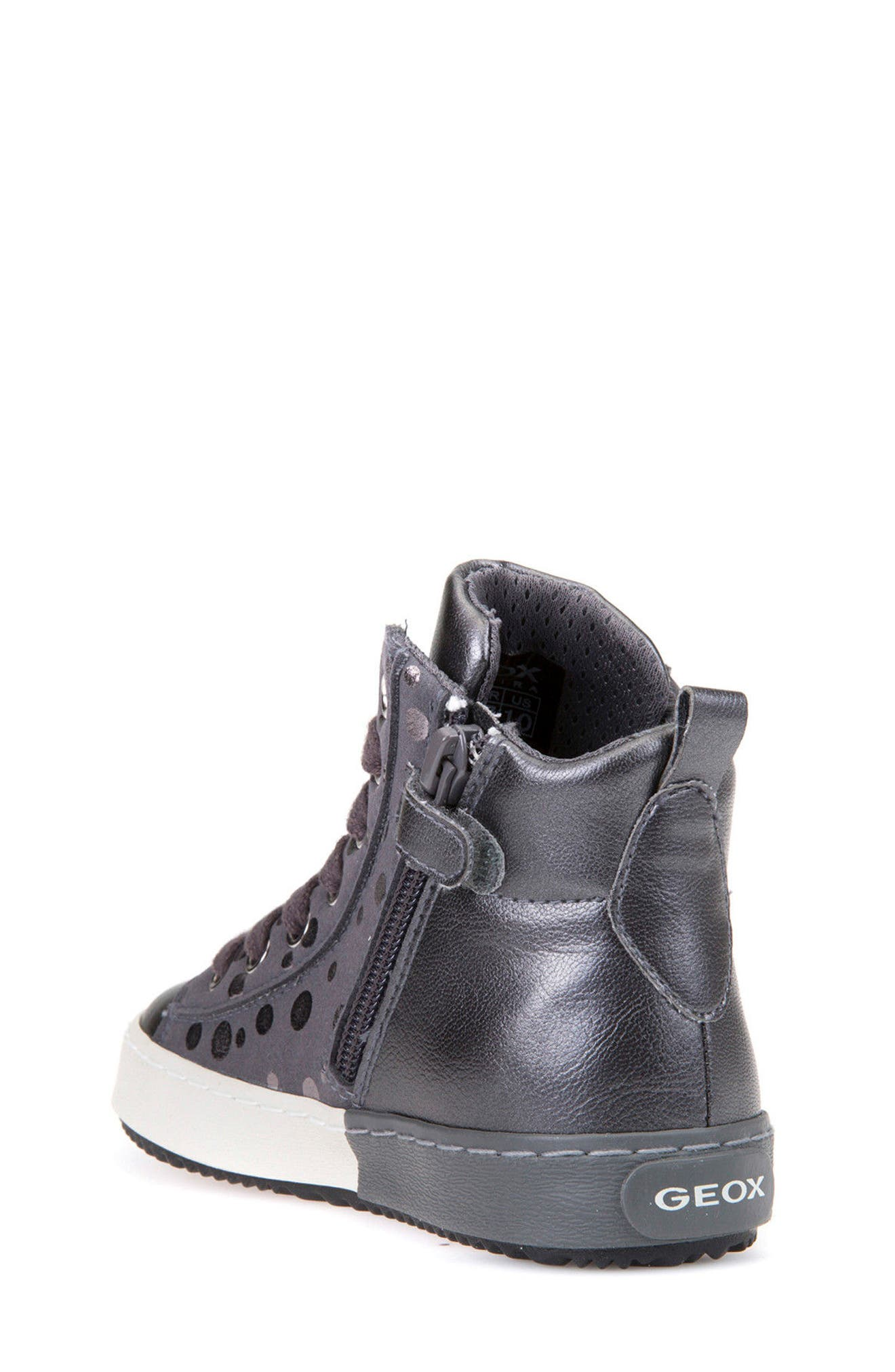 Alternate Image 2  - Geox Kalispera Girl Dotted High Top Sneaker (Toddler, Little Kid & Big Kid)