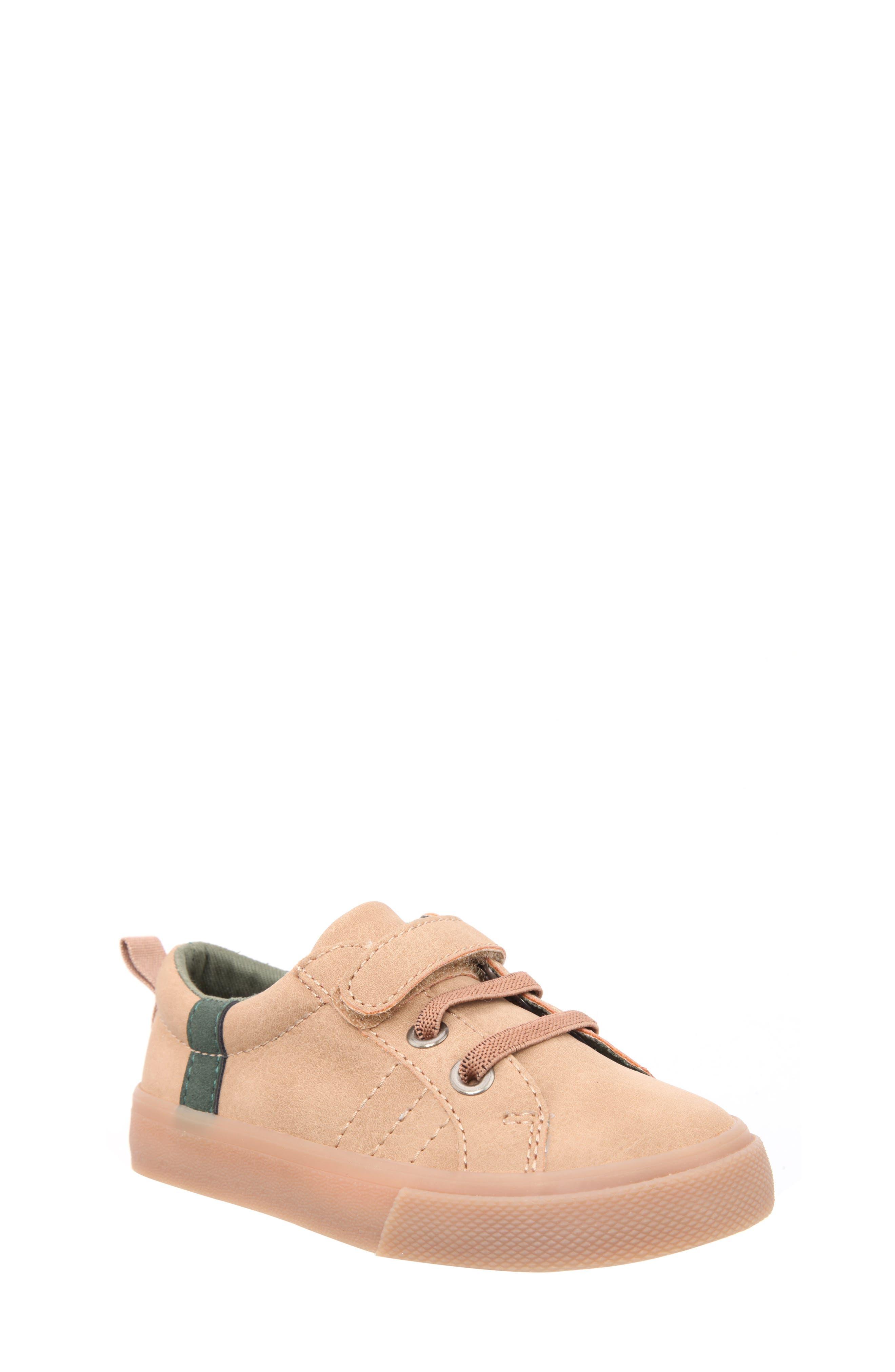 Nick Low Top Sneaker,                             Main thumbnail 1, color,                             Tan Crazy Horse