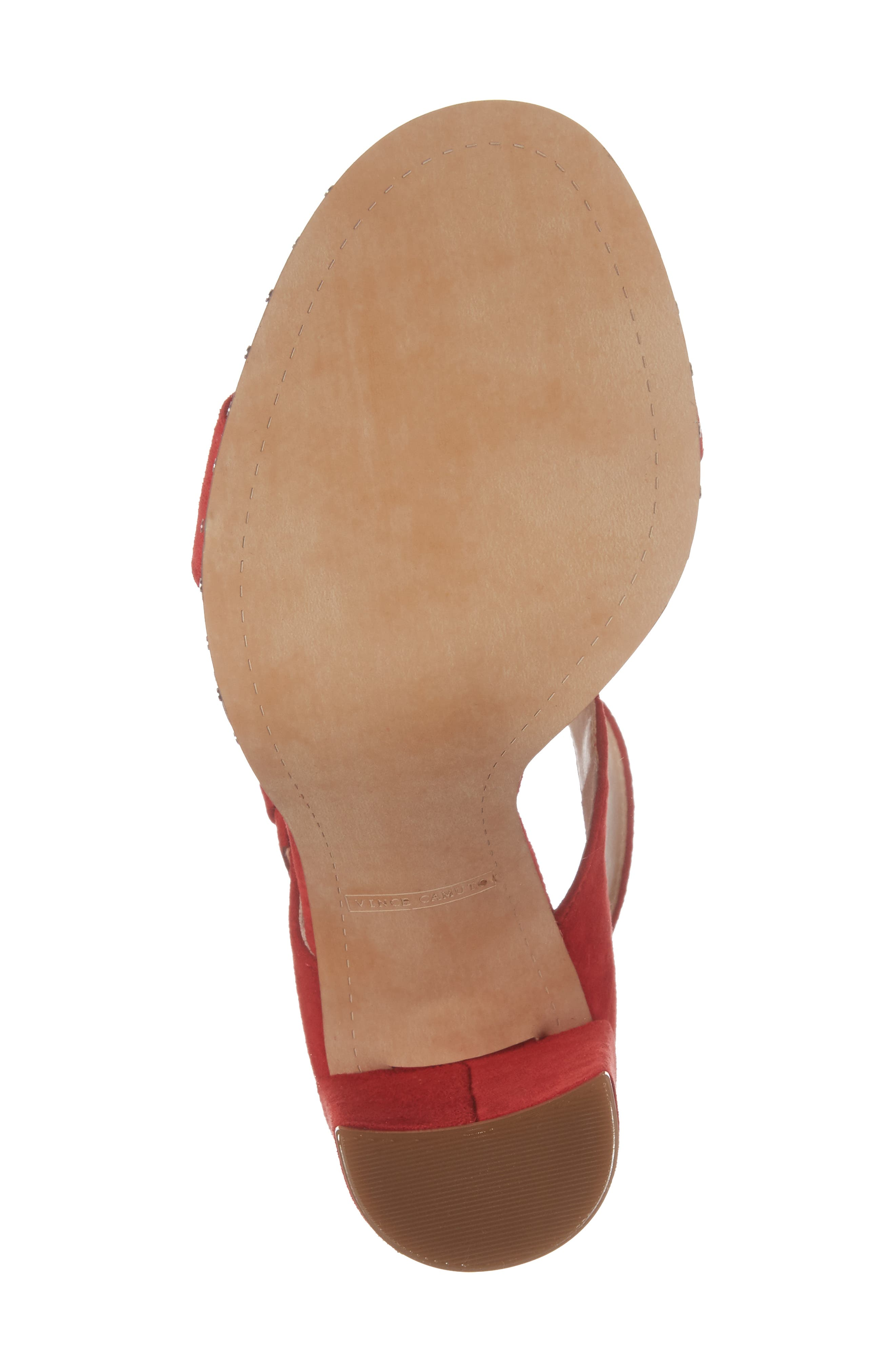 Jesina Sandal,                             Alternate thumbnail 6, color,                             Cherry Red Suede