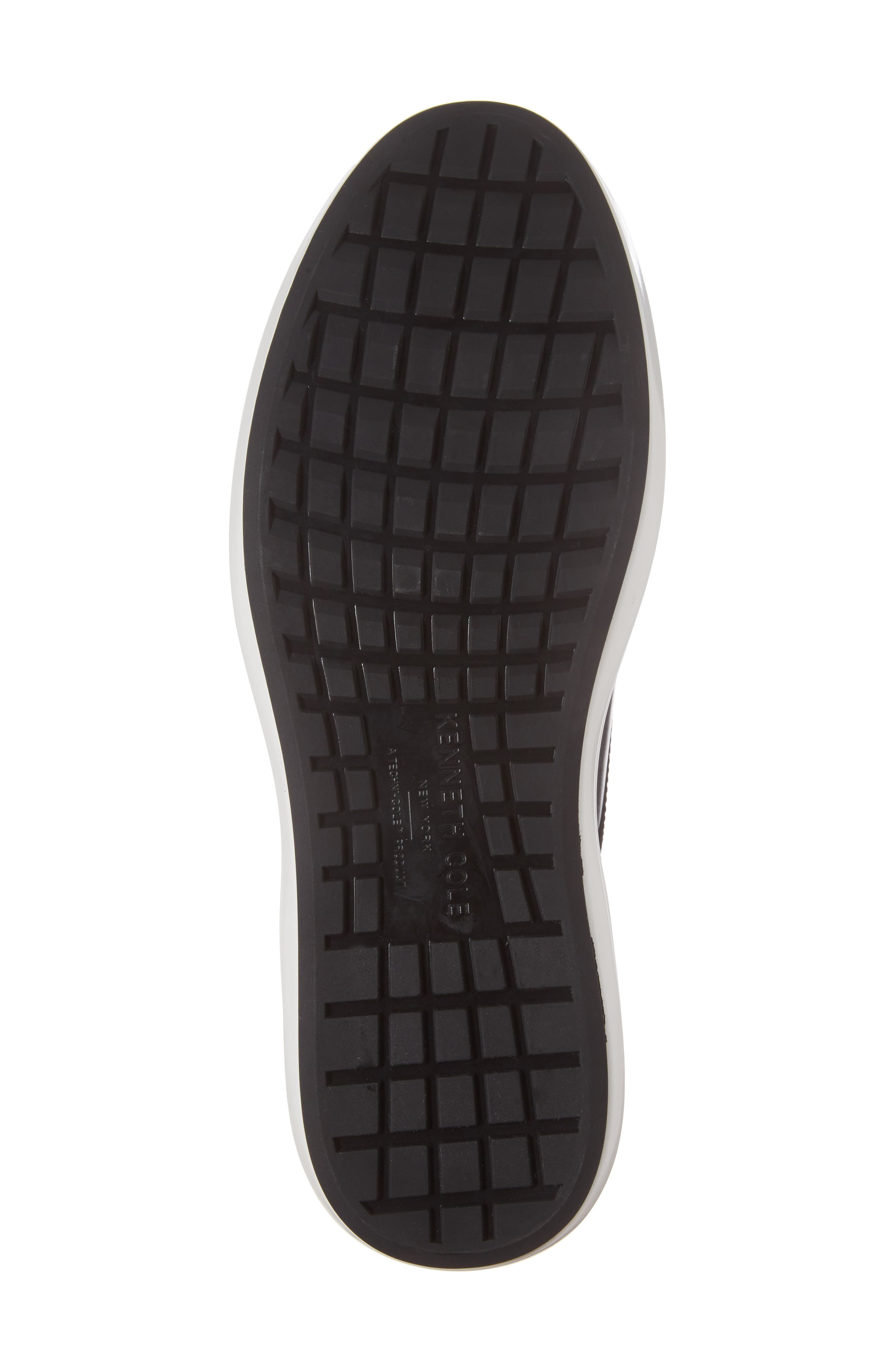 Sneaker,                             Alternate thumbnail 6, color,                             Black Leather