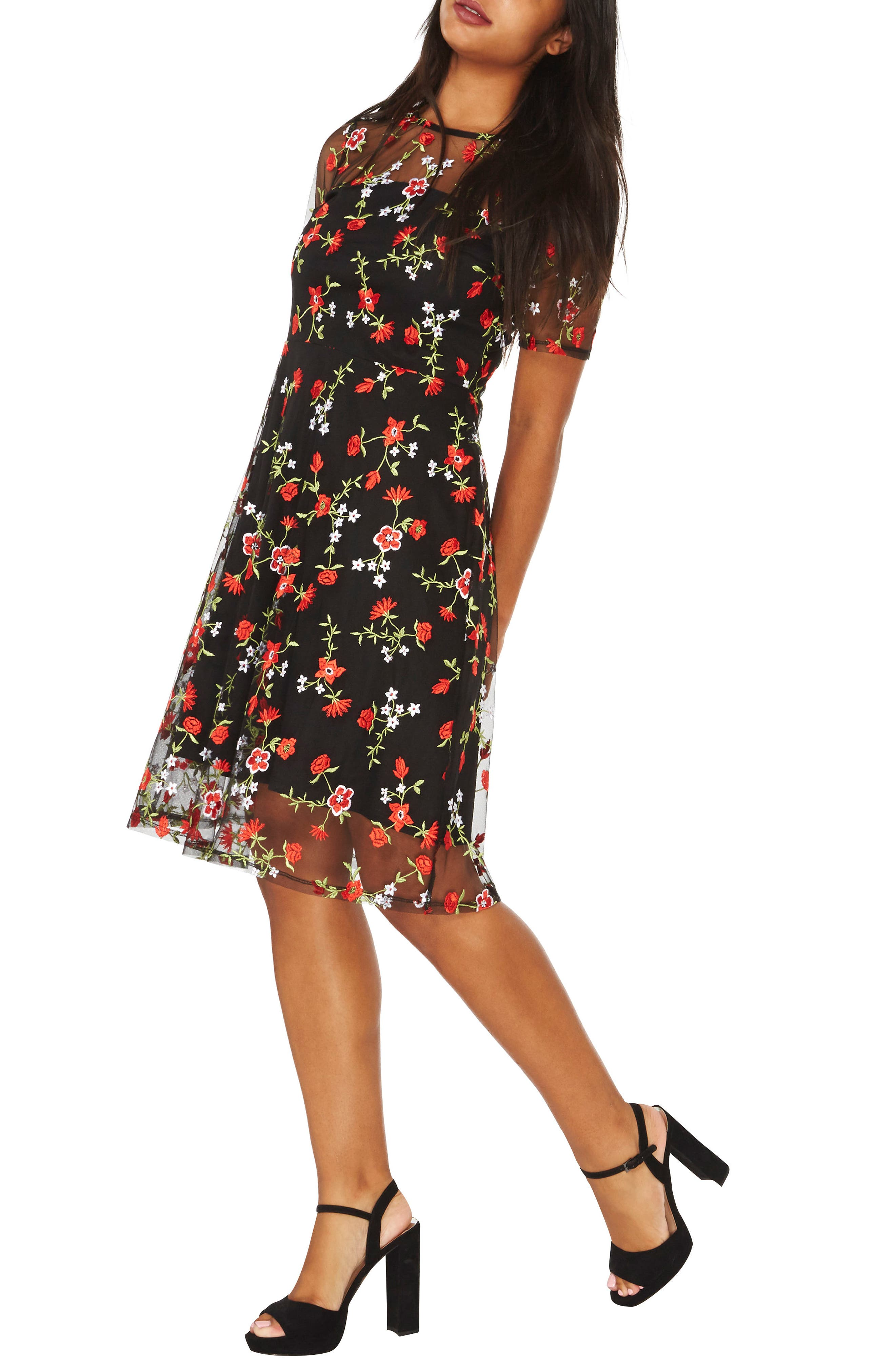 Dorothy Perkins Floral Embroidered Dress