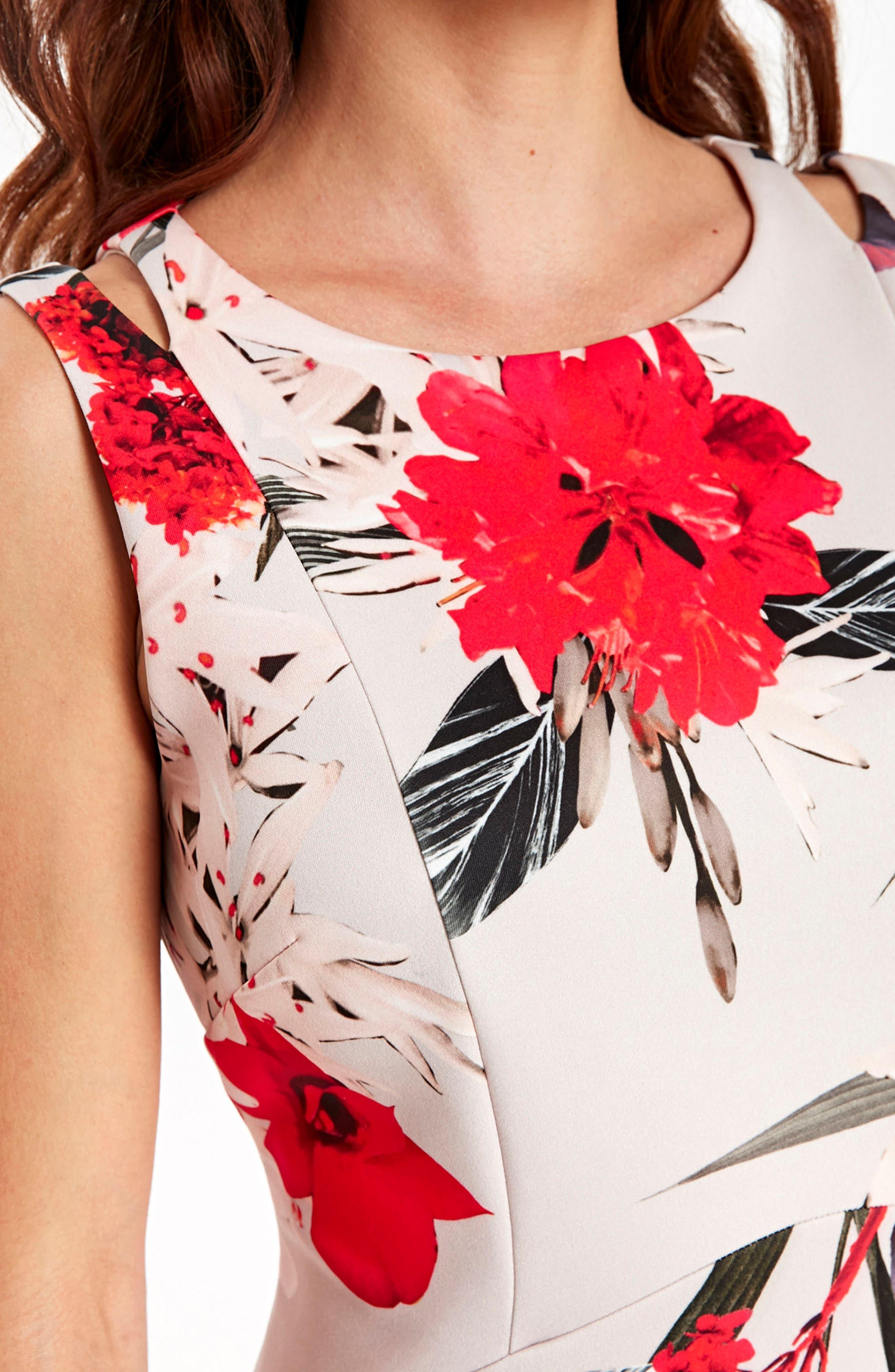 Alternate Image 4  - Wallis Sahara Bloom High/Low Dress
