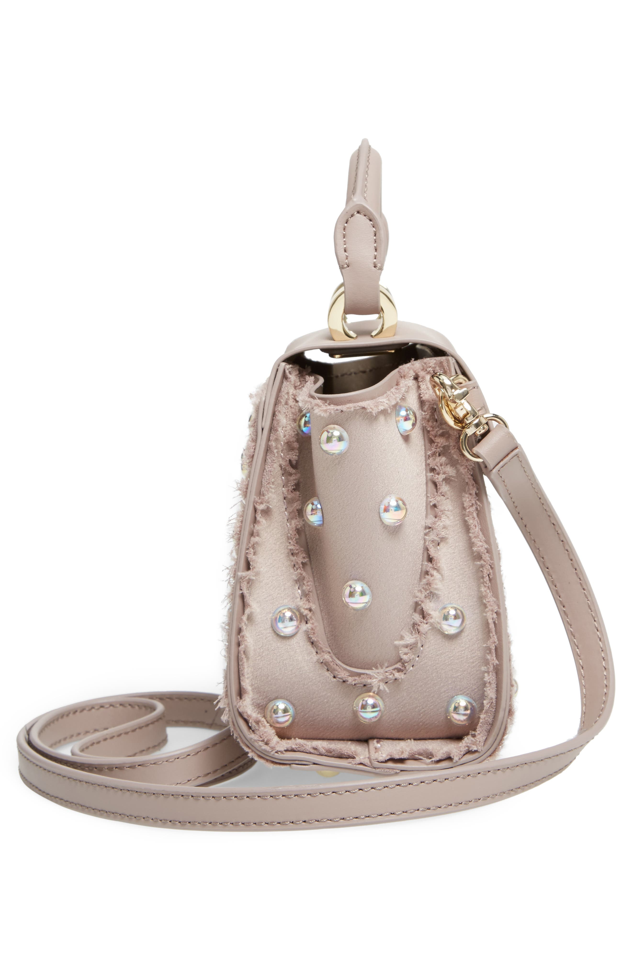 Alternate Image 5  - ZAC Zac Posen Mini Eartha Embellished Top Handle Calfskin Leather Satchel