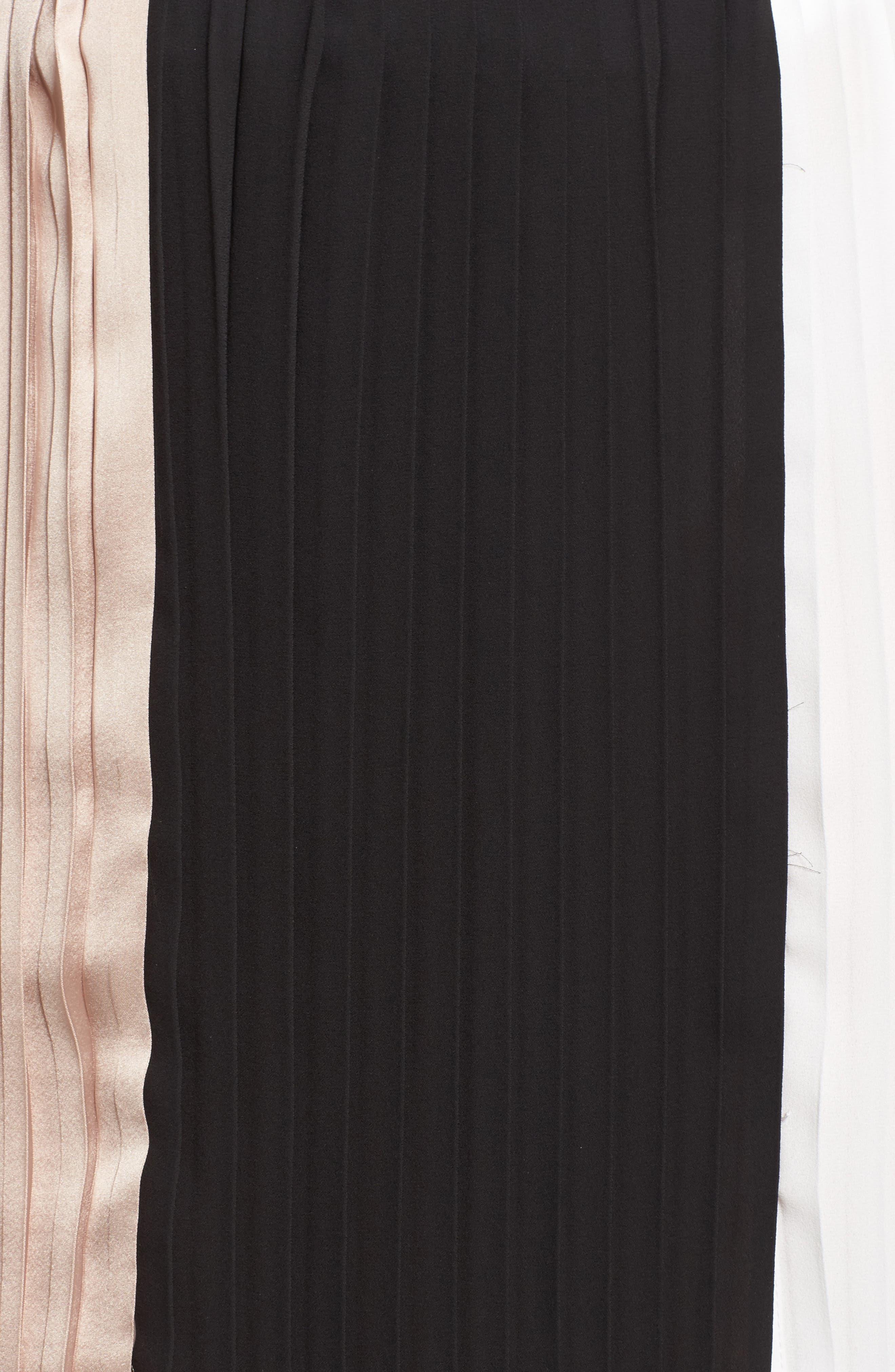 Alternate Image 5  - ELVI Colorblock Pleat Skirt (Plus Size)