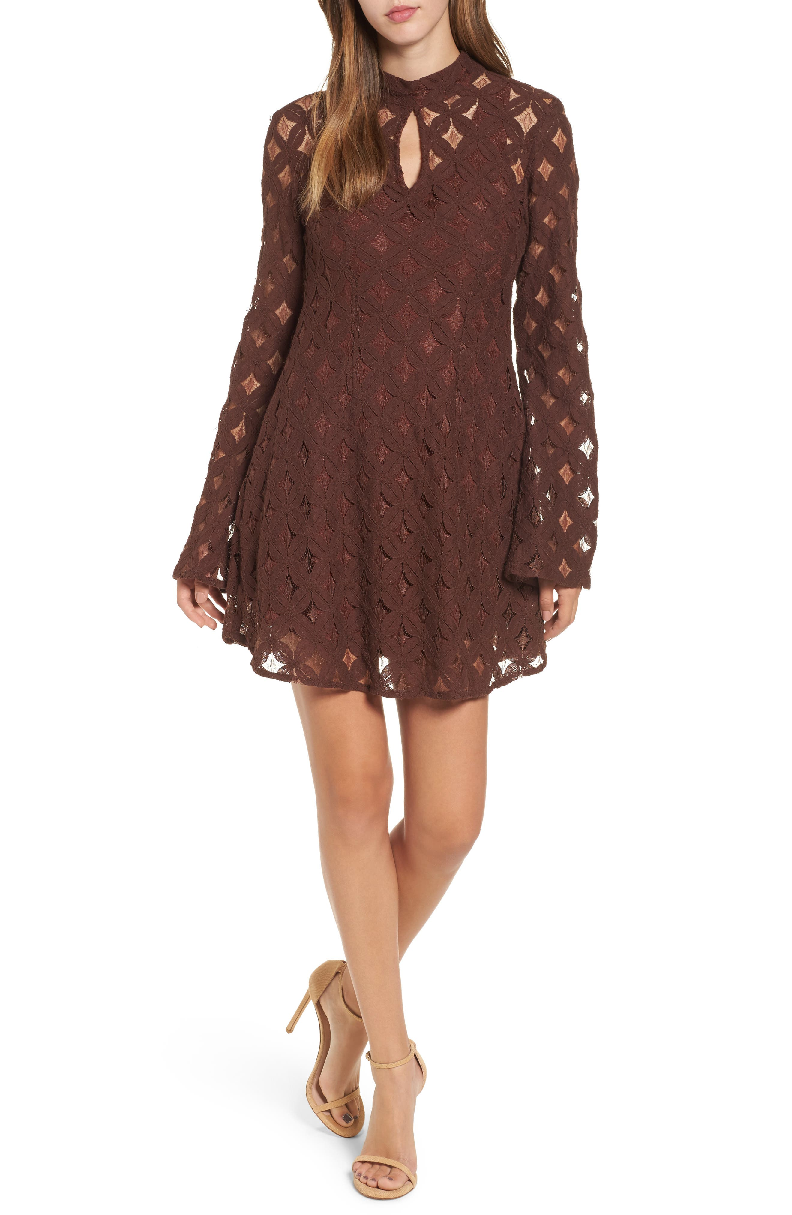 Main Image - Somedays Lovin Crimson Hearts Lace Dress