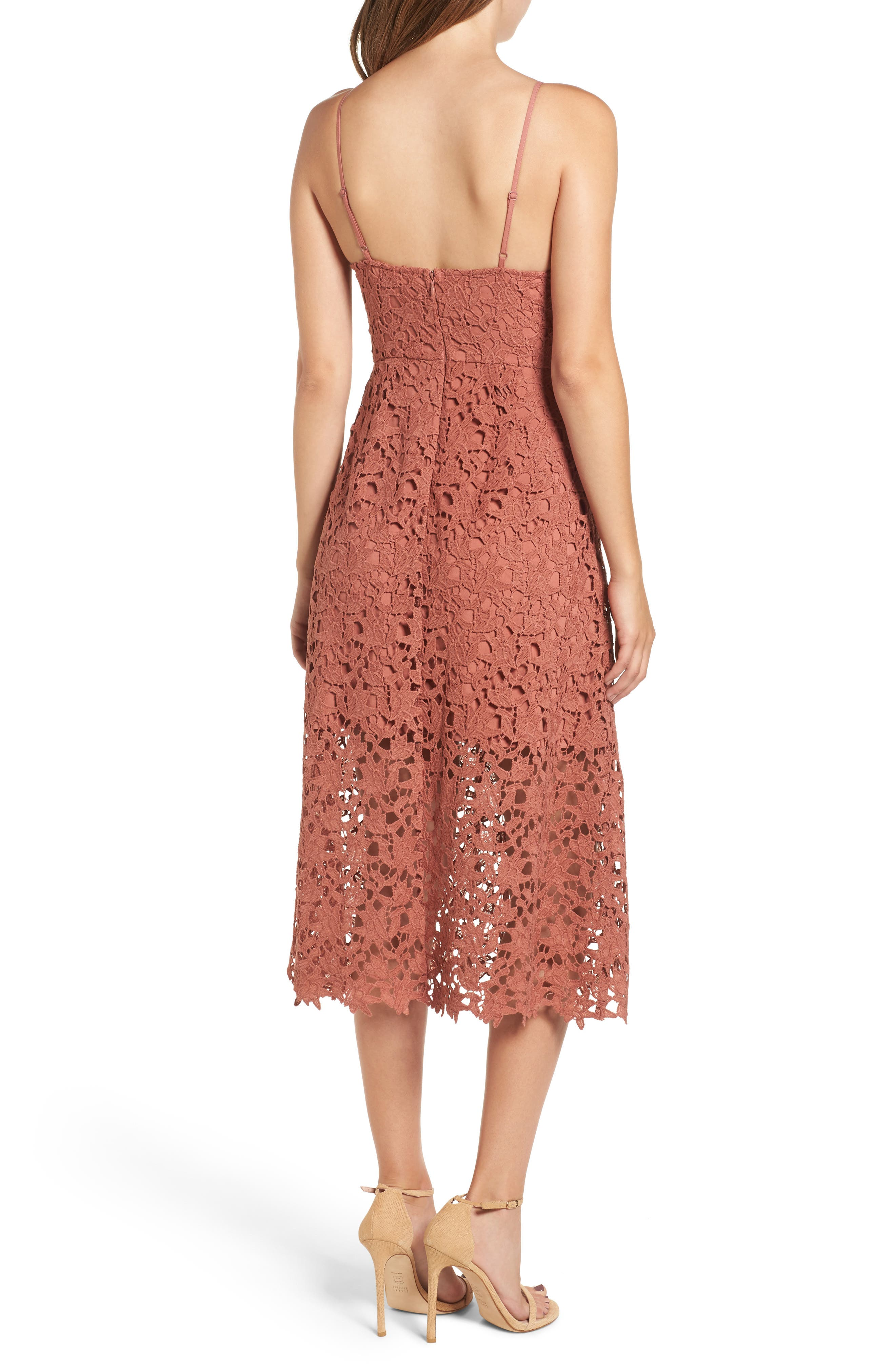 Alternate Image 2  - ASTR the Label Lace Midi Dress
