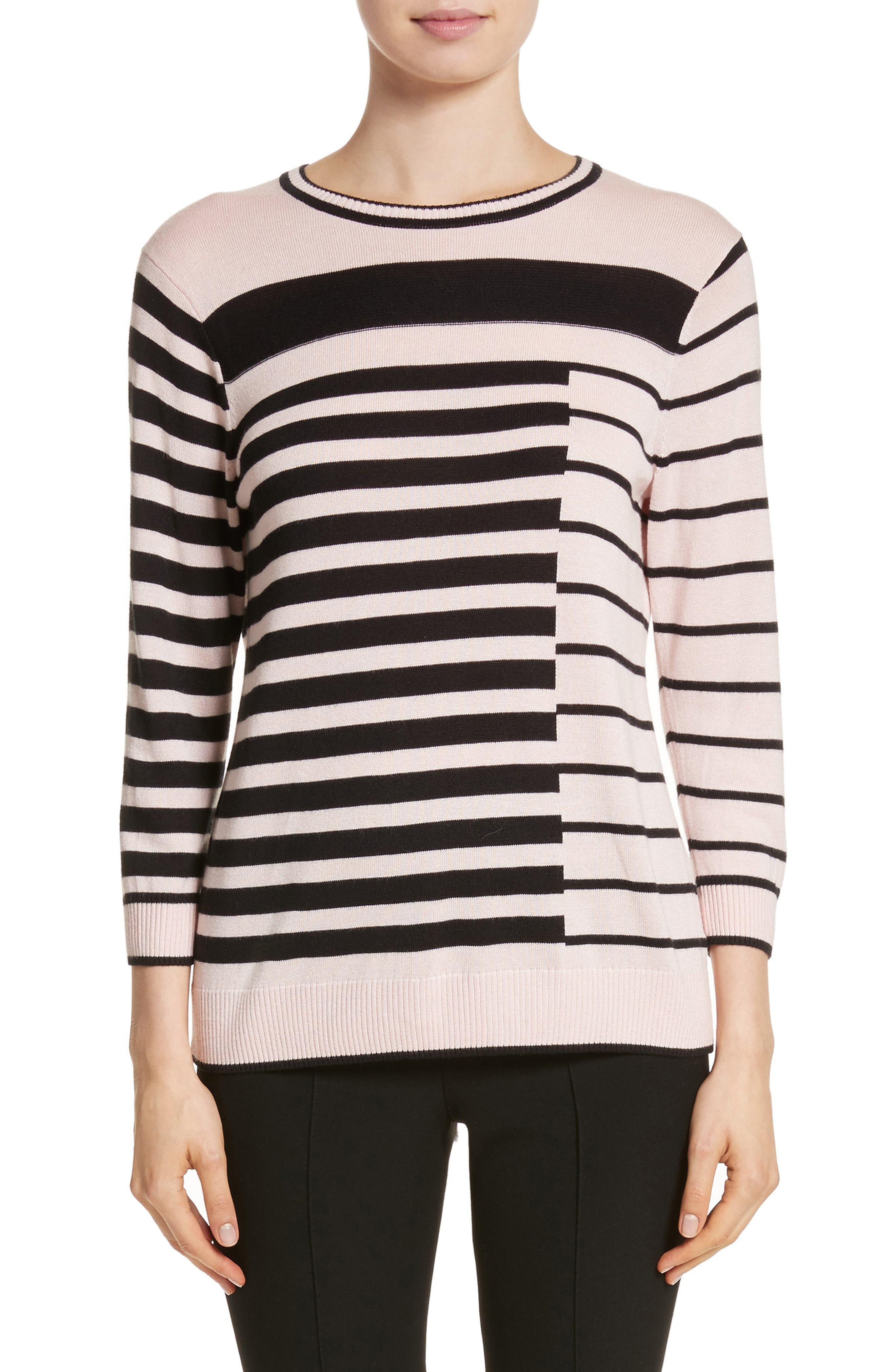Alternate Image 1 Selected - St. John Collection Intarsia Stripe Sweater
