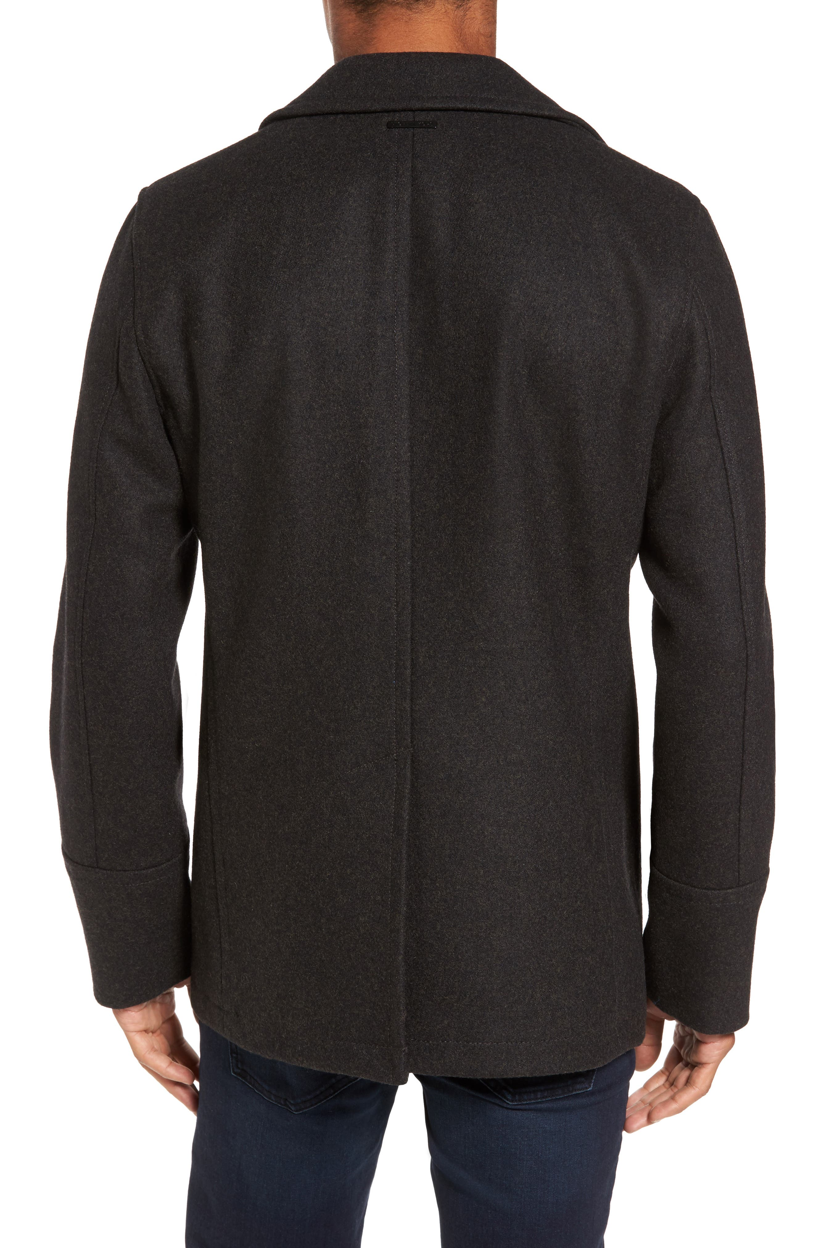 Wool Blend Peacoat,                             Alternate thumbnail 2, color,                             Loden Heather