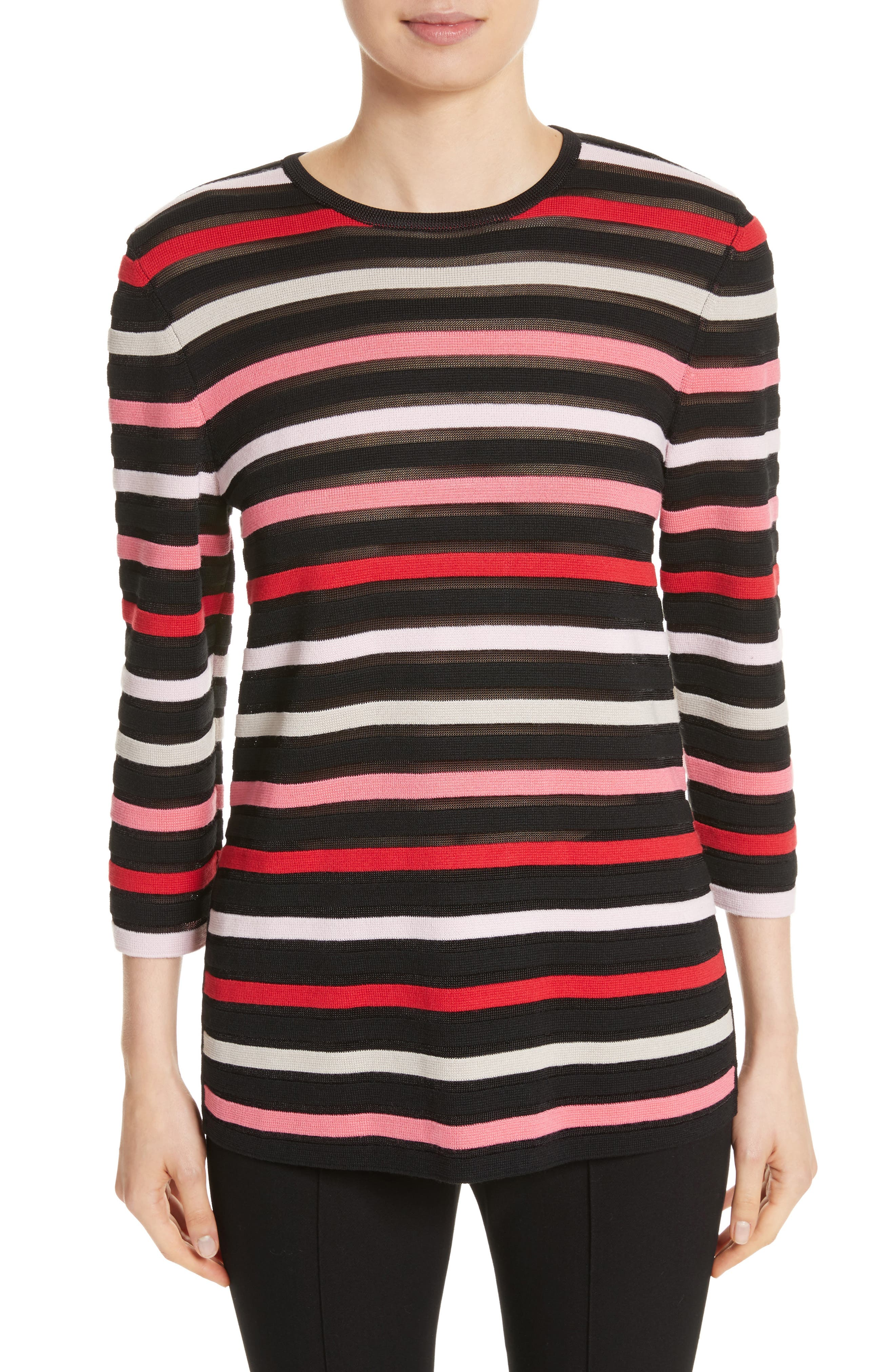 Alternate Image 1 Selected - St. John Collection Ombré Stripe Sweater