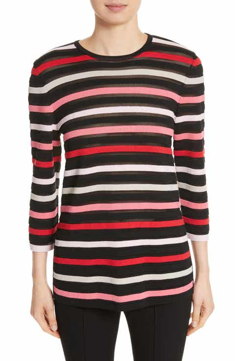 St. John Collection Ombré Stripe Sweater