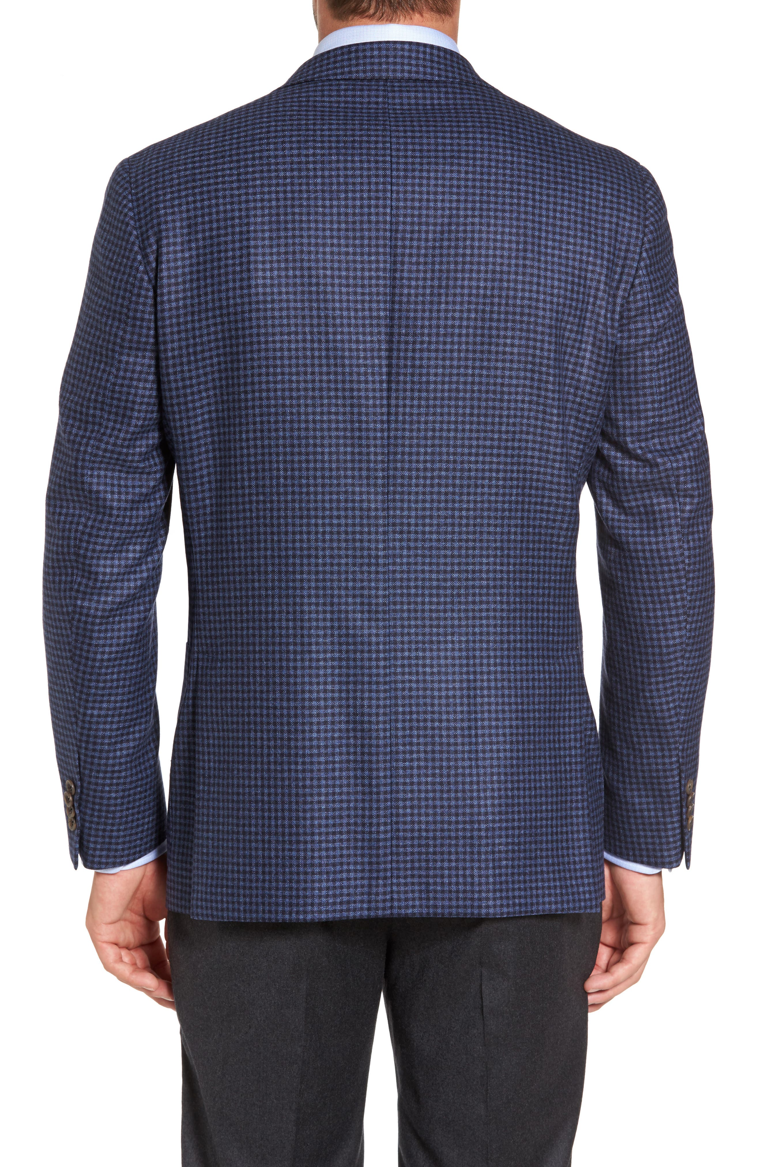 Alternate Image 2  - David Donahue Aiden Classic Fit Check Wool & Cashmere Sport Coat