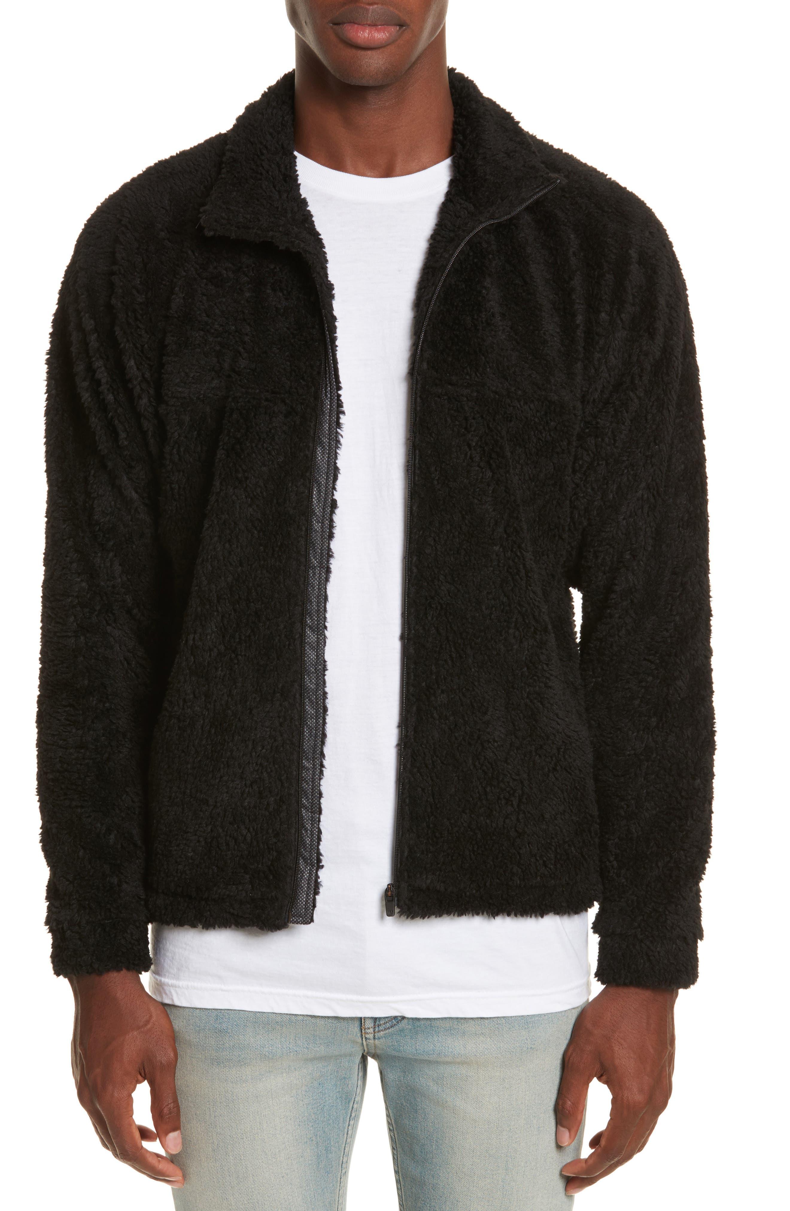 Frederik Fleece Jacket,                         Main,                         color, Black