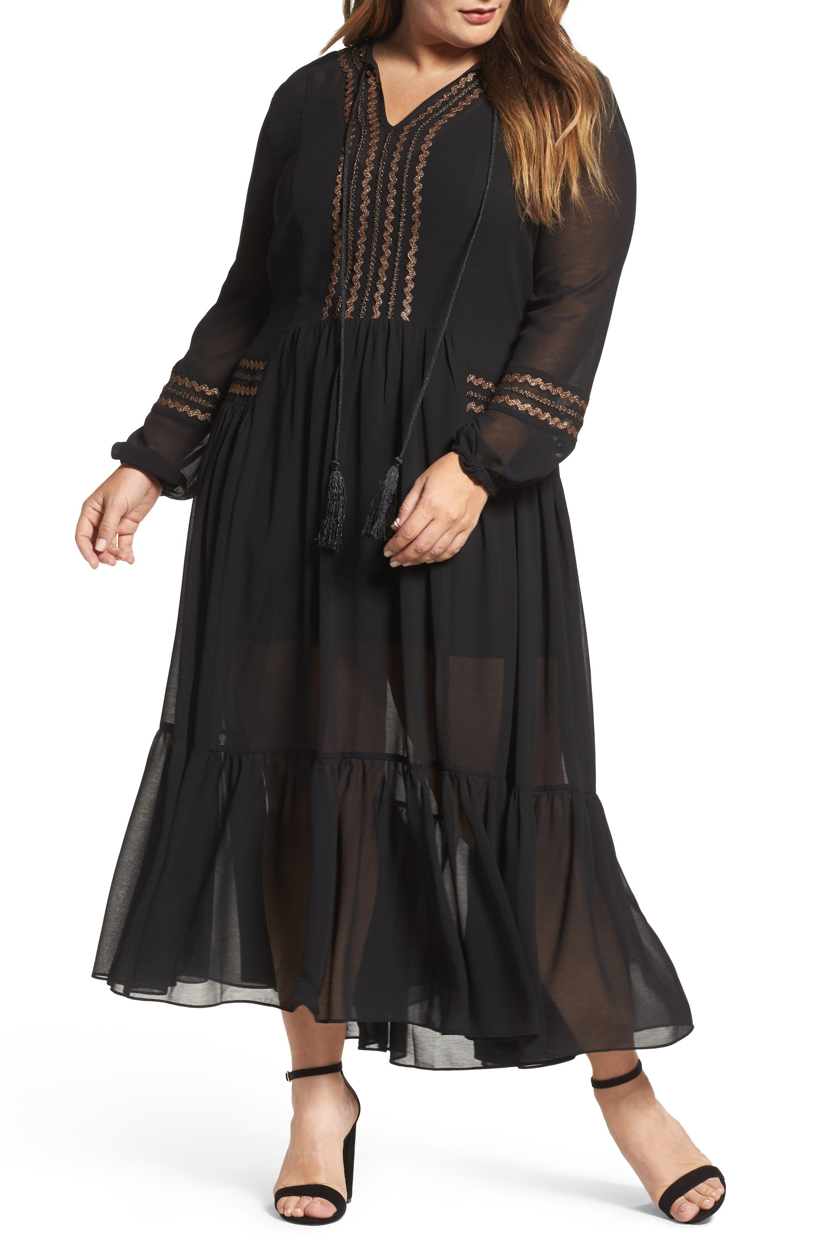 Alternate Image 1 Selected - ELVI Maxi Dress (Plus Size)