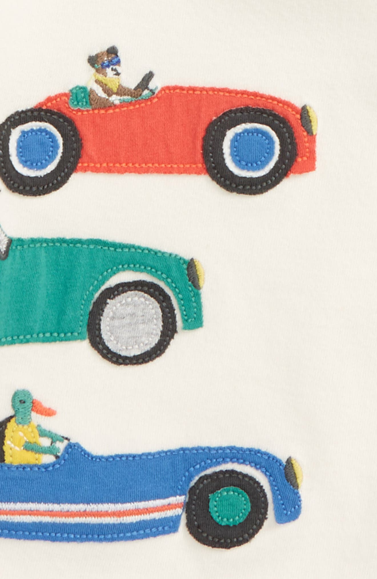Vehicle Appliqué T-Shirt,                             Alternate thumbnail 2, color,                             Ecru Animal Race