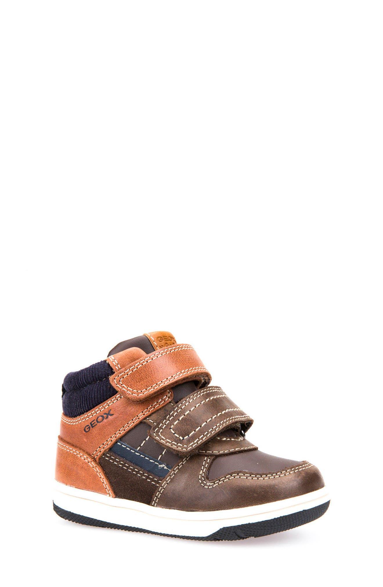 Alternate Image 1 Selected - Geox New Flick Mid Top Sneaker (Walker & Toddler)