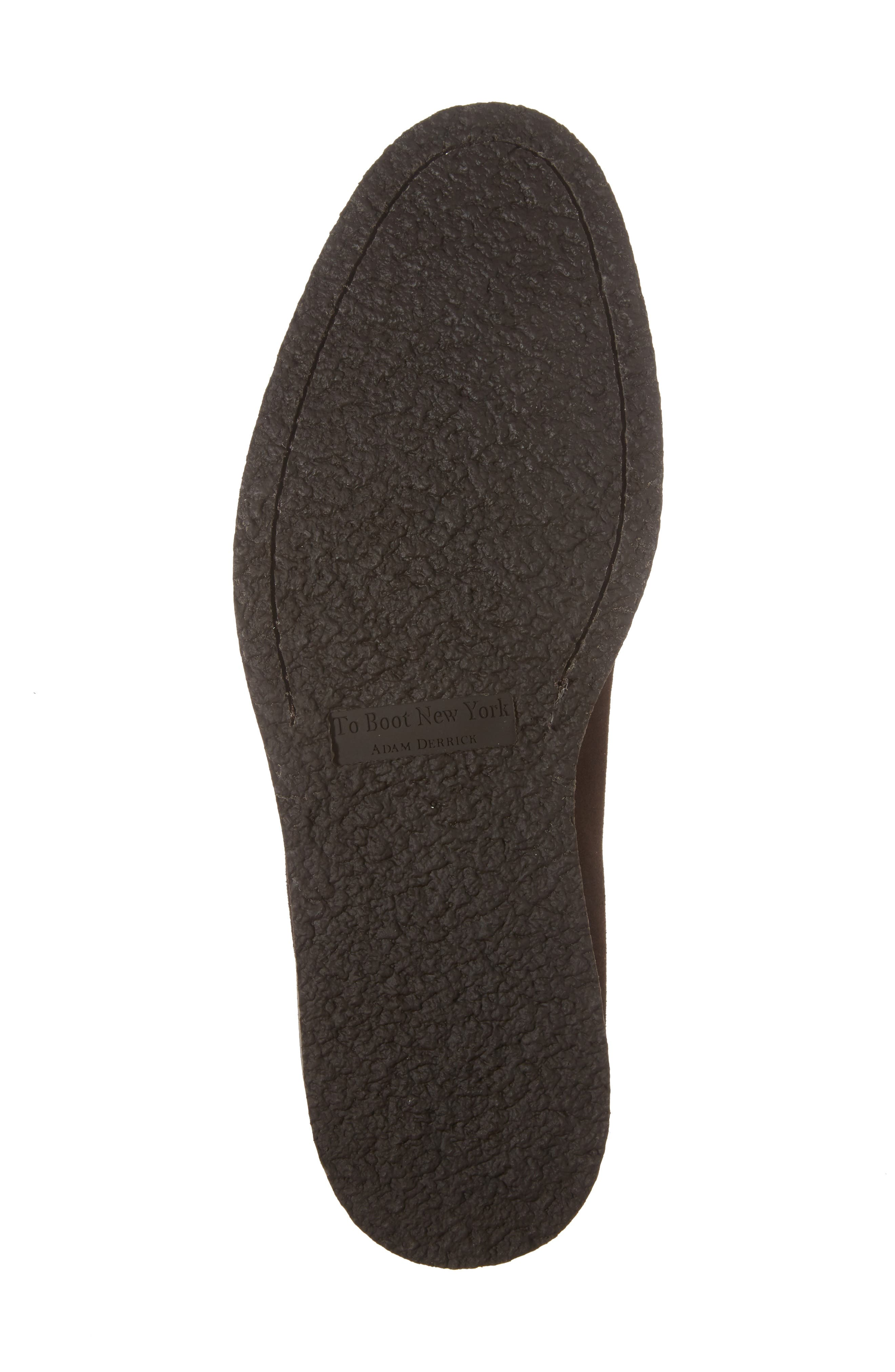 Samuel Plain-Toe Derby,                             Alternate thumbnail 6, color,                             Brown Suede Leather