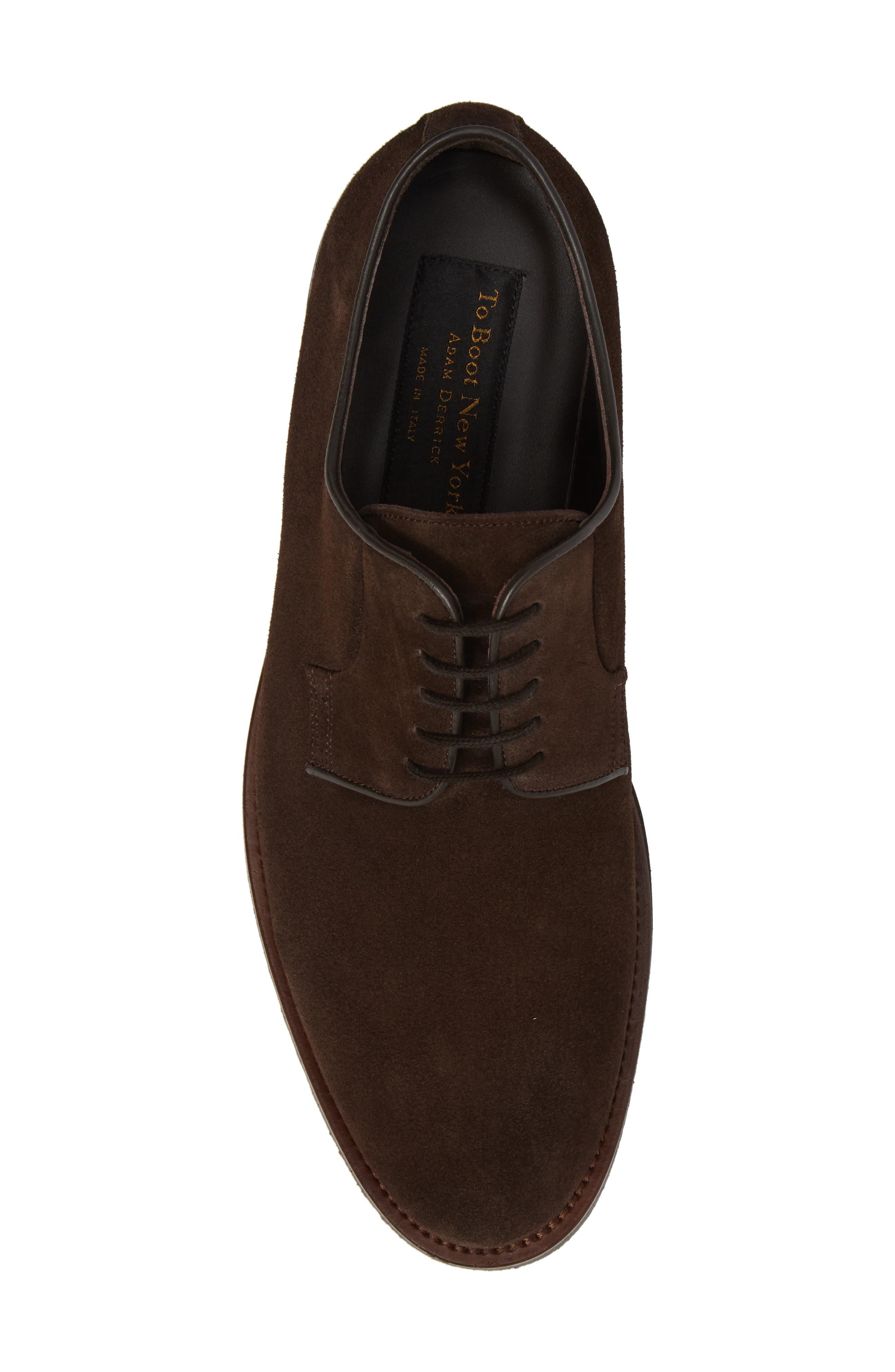 Samuel Plain-Toe Derby,                             Alternate thumbnail 5, color,                             Brown Suede Leather