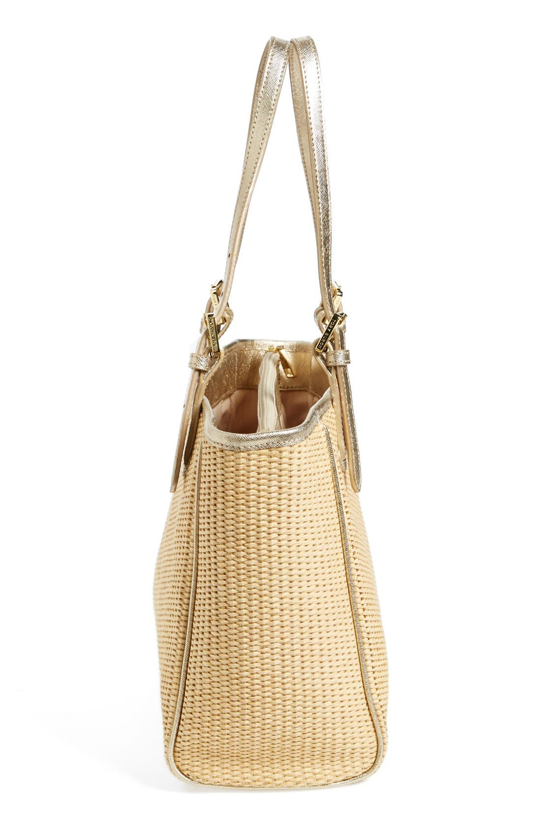 Alternate Image 5  - Tory Burch 'Small York' Straw Buckle Tote