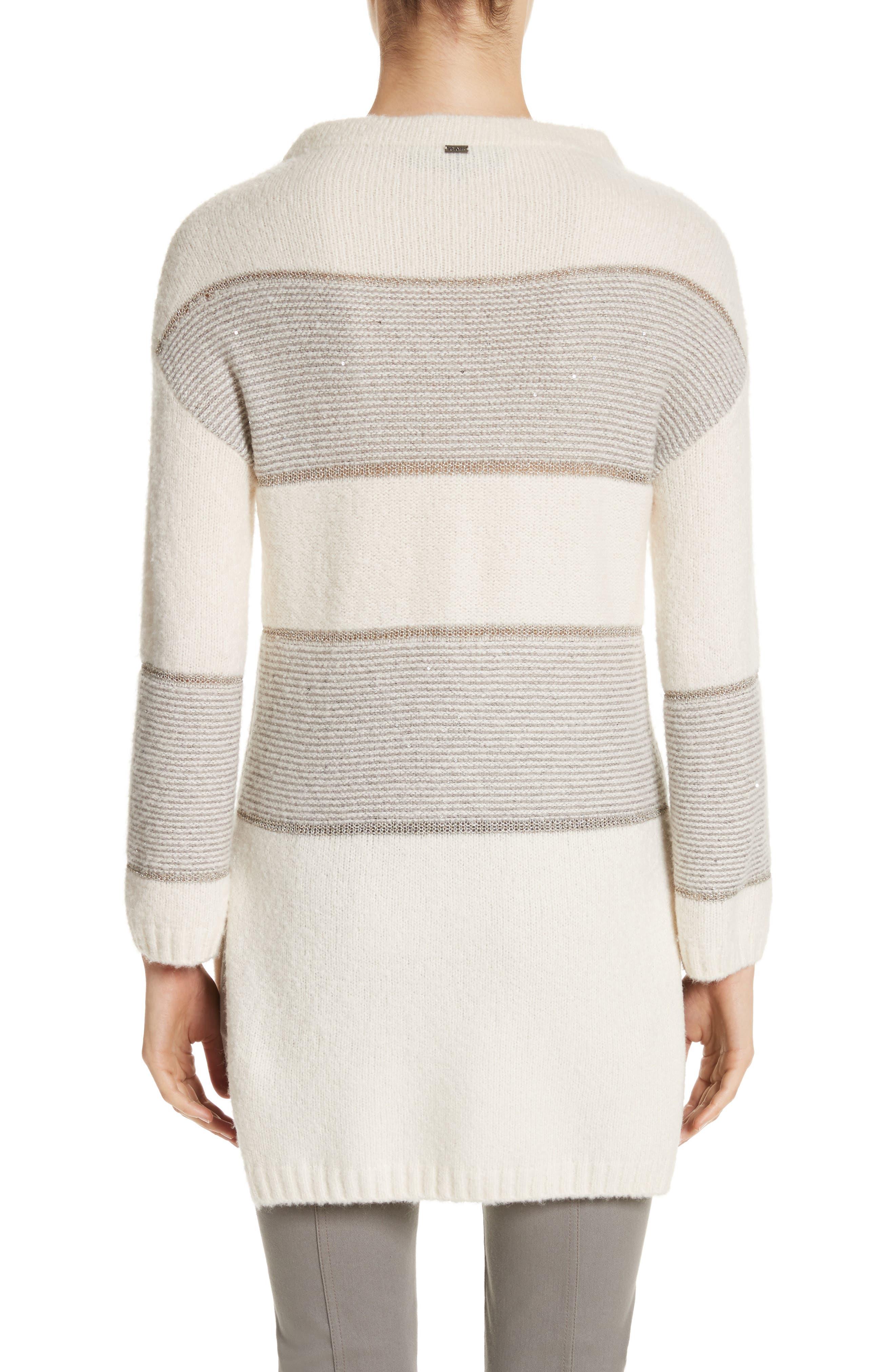 Alternate Image 2  - St. John Collection Links Knit Funnel Neck Sweater